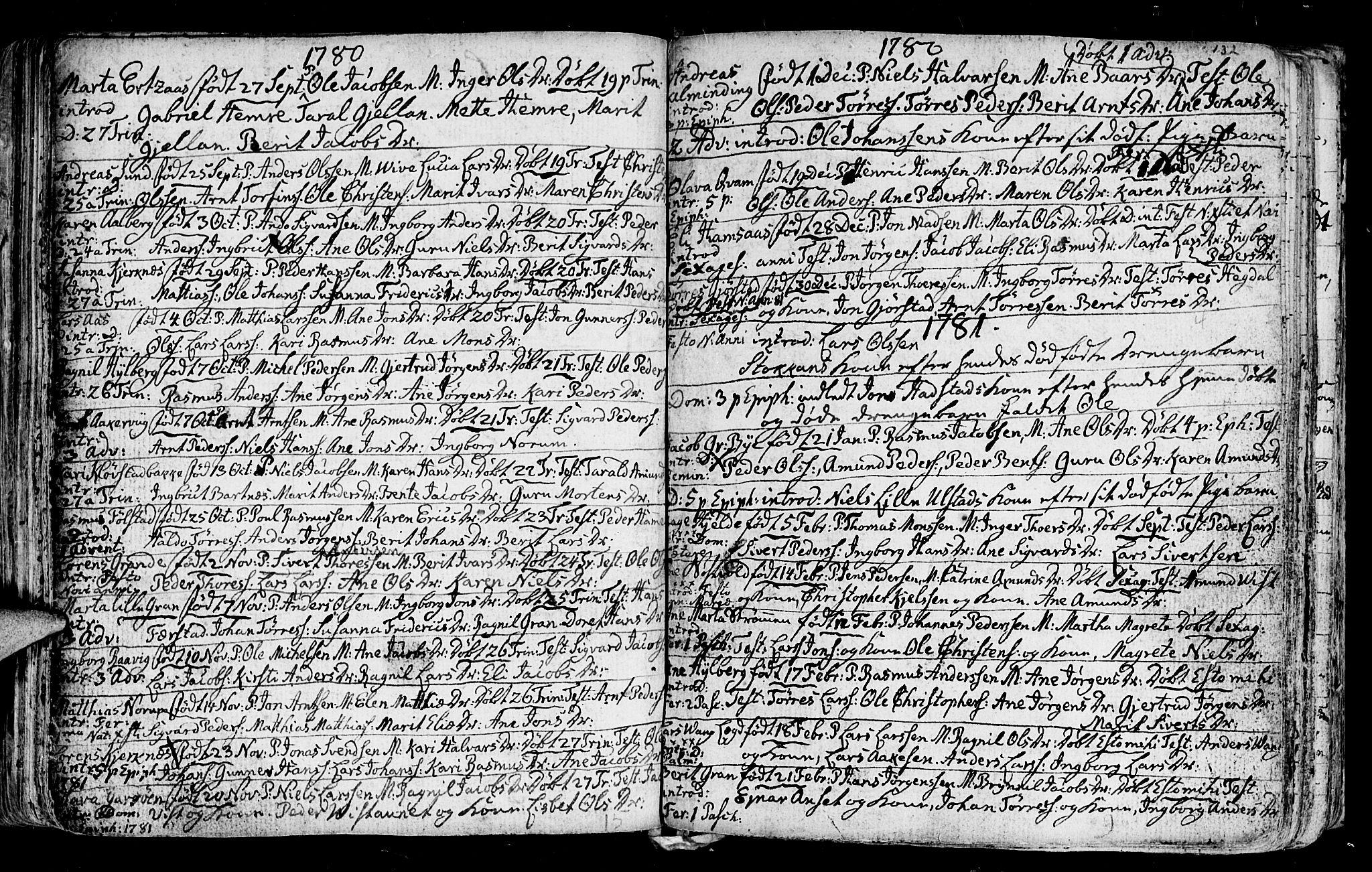SAT, Ministerialprotokoller, klokkerbøker og fødselsregistre - Nord-Trøndelag, 730/L0273: Ministerialbok nr. 730A02, 1762-1802, s. 132
