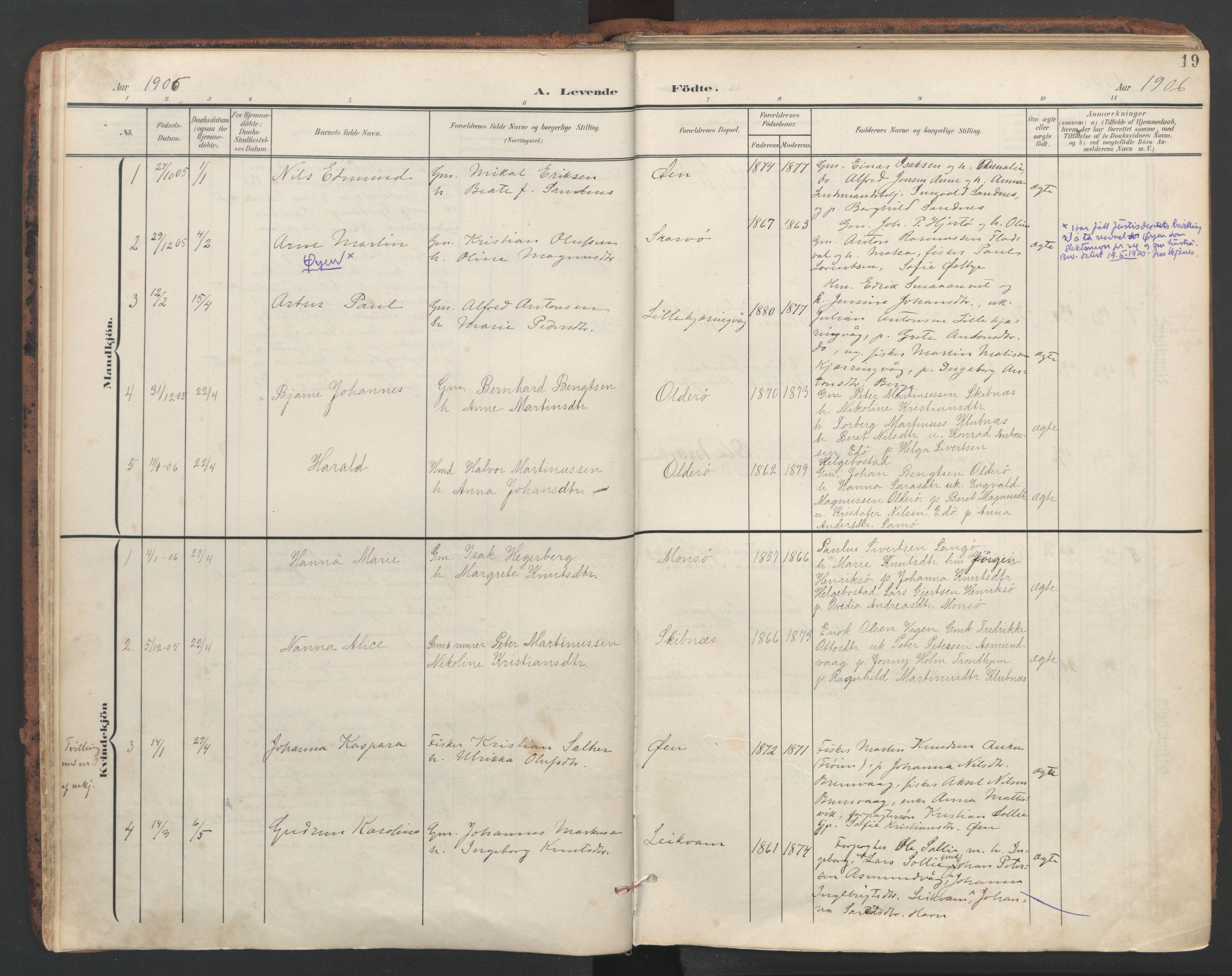 SAT, Ministerialprotokoller, klokkerbøker og fødselsregistre - Sør-Trøndelag, 634/L0537: Ministerialbok nr. 634A13, 1896-1922, s. 19