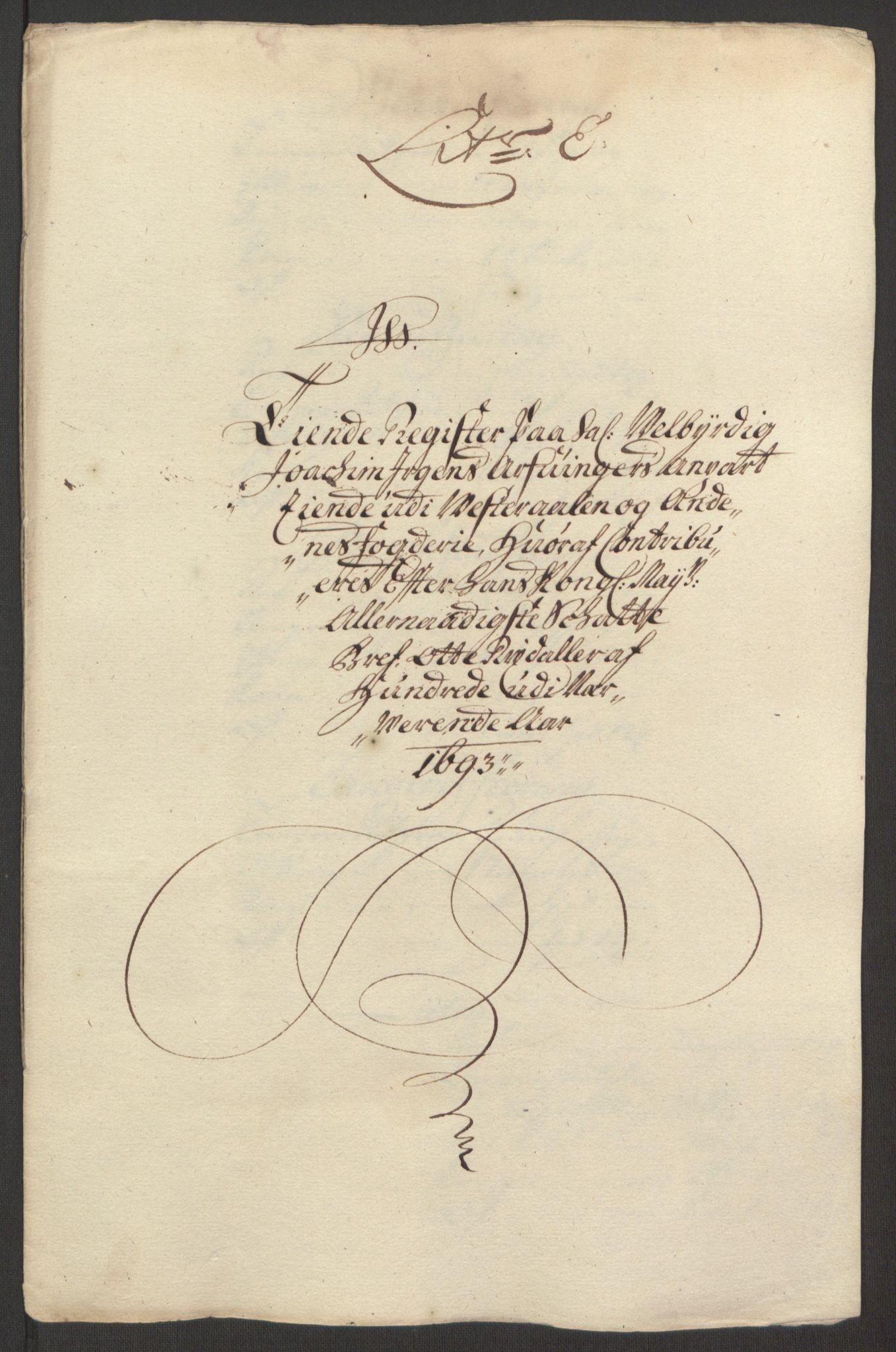 RA, Rentekammeret inntil 1814, Reviderte regnskaper, Fogderegnskap, R67/L4676: Fogderegnskap Vesterålen, Andenes og Lofoten, 1691-1693, s. 279