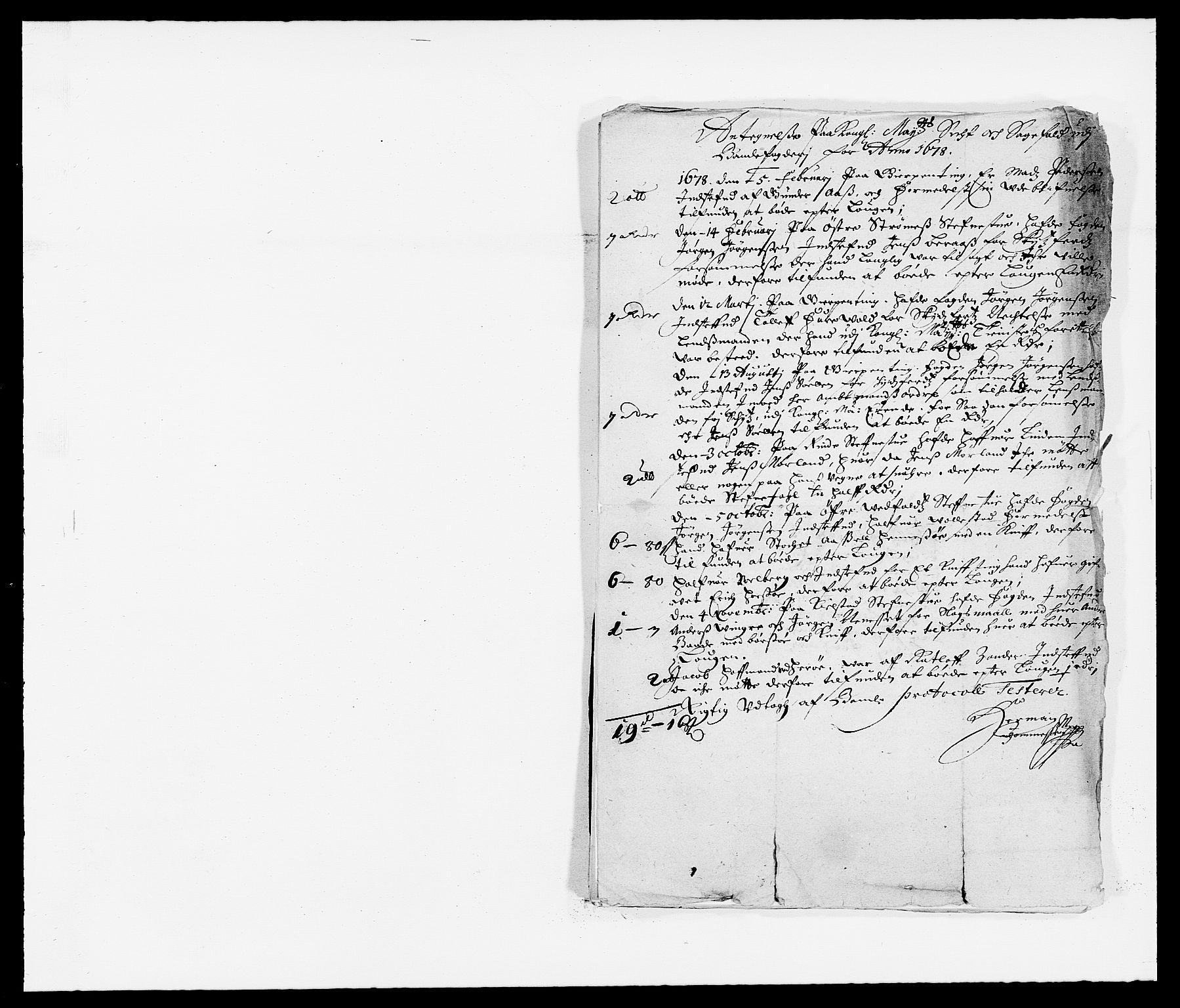 RA, Rentekammeret inntil 1814, Reviderte regnskaper, Fogderegnskap, R34/L2044: Fogderegnskap Bamble, 1678-1679, s. 219