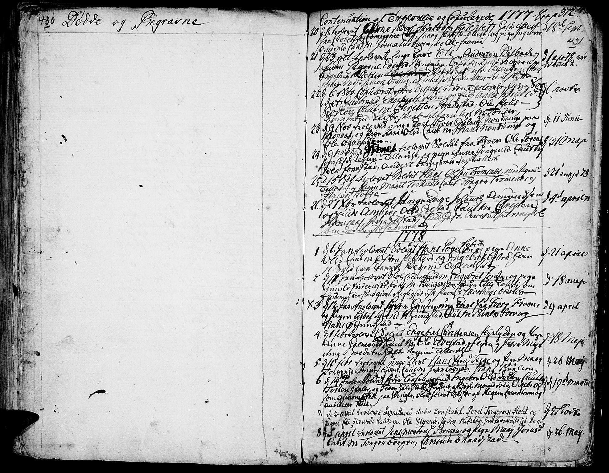 SAH, Ringebu prestekontor, Ministerialbok nr. 2, 1734-1780, s. 430-431