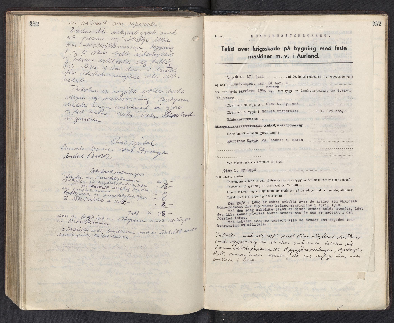 SAB, Lensmannen i Aurland, 0012/L0003: Branntakstprotokoll, 1917-1944, s. 252