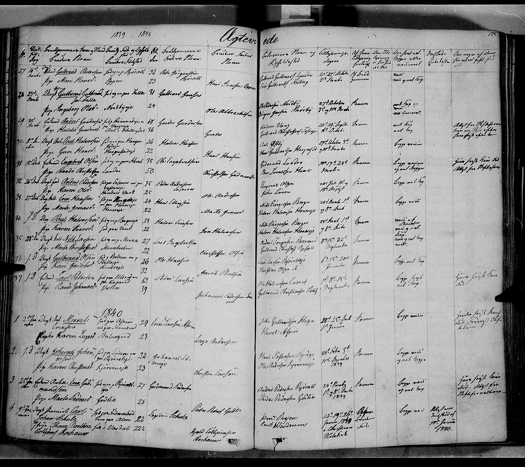SAH, Jevnaker prestekontor, Ministerialbok nr. 6, 1837-1857, s. 175