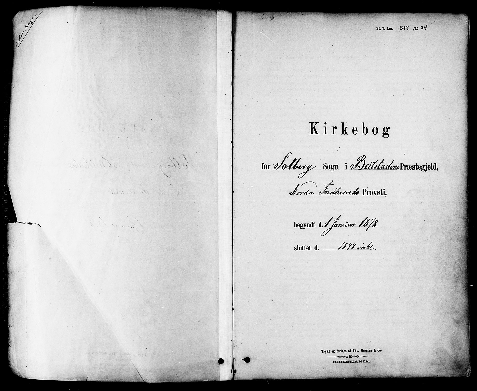 SAT, Ministerialprotokoller, klokkerbøker og fødselsregistre - Nord-Trøndelag, 741/L0395: Ministerialbok nr. 741A09, 1878-1888