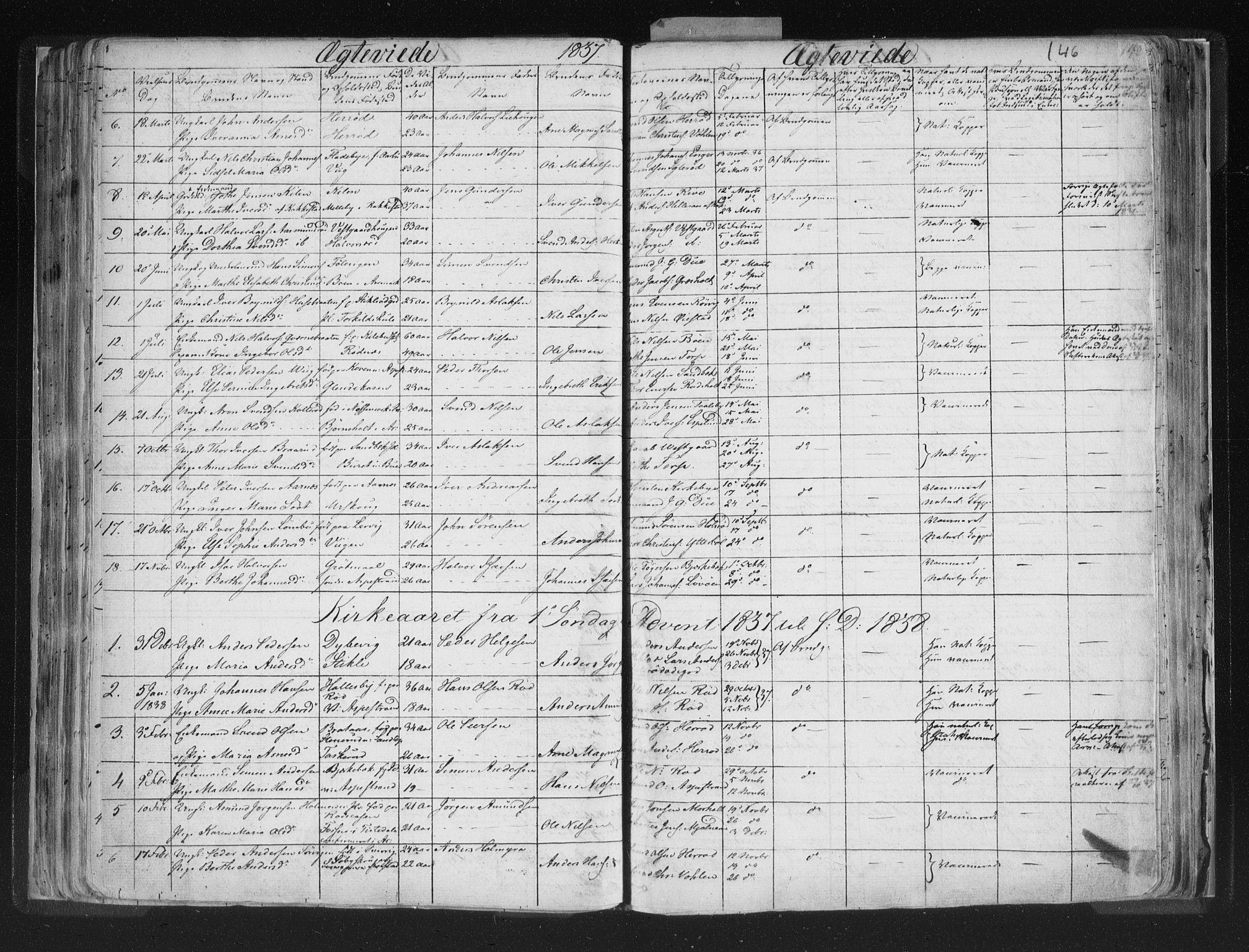 SAO, Aremark prestekontor Kirkebøker, F/Fc/L0002: Ministerialbok nr. III 2, 1834-1849, s. 146