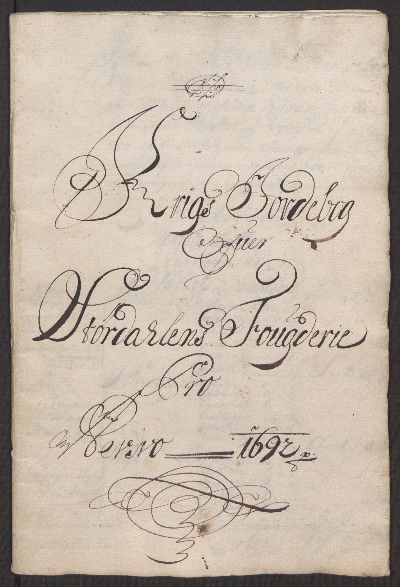 RA, Rentekammeret inntil 1814, Reviderte regnskaper, Fogderegnskap, R62/L4185: Fogderegnskap Stjørdal og Verdal, 1692, s. 305