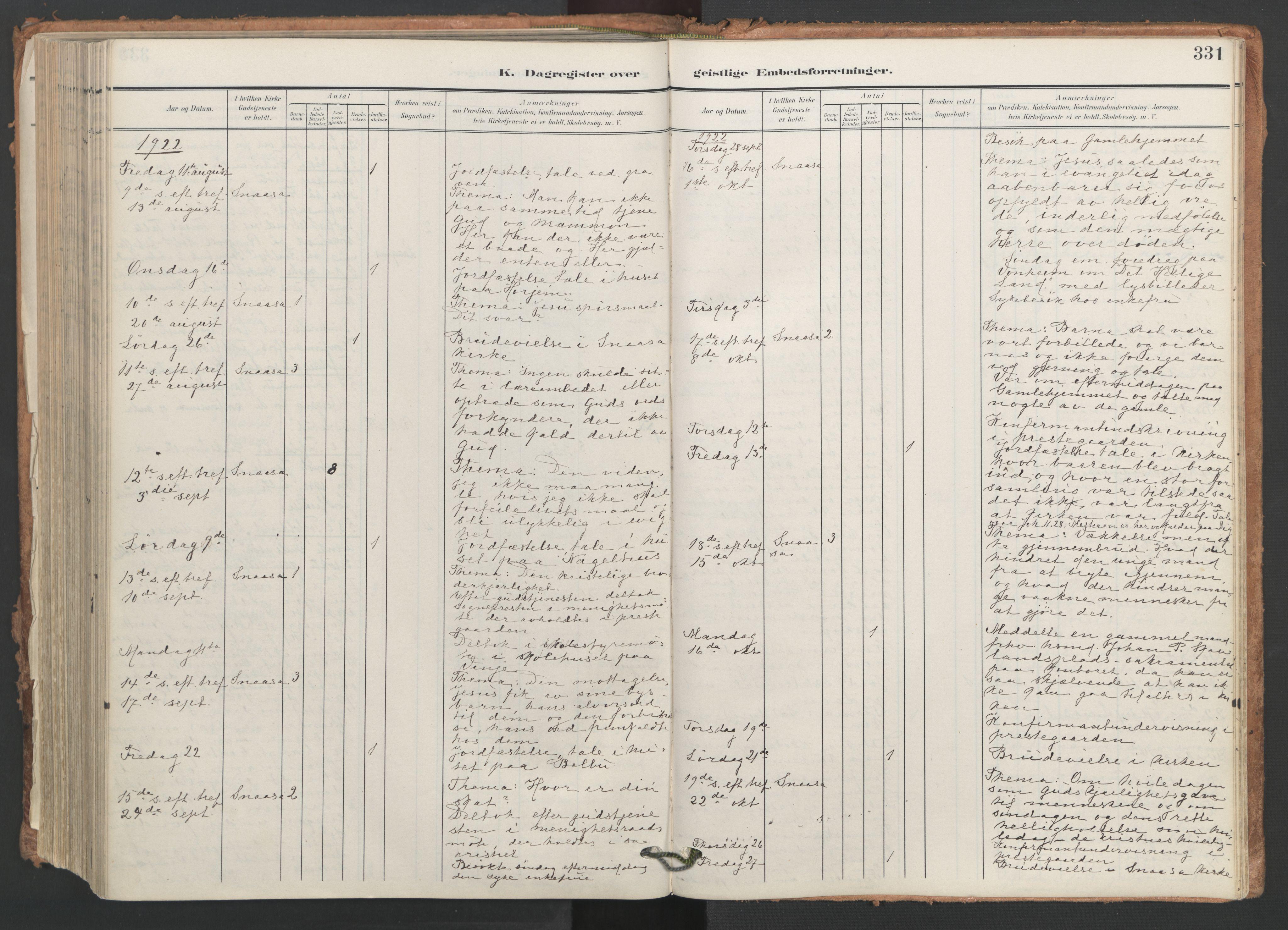 SAT, Ministerialprotokoller, klokkerbøker og fødselsregistre - Nord-Trøndelag, 749/L0477: Ministerialbok nr. 749A11, 1902-1927, s. 331