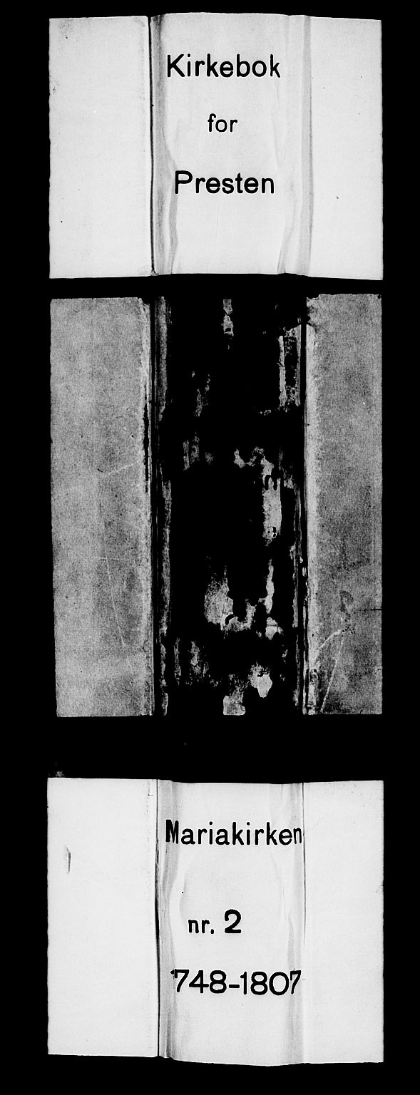 SAB, Mariakirken Sokneprestembete, H/Haa/L0002: Ministerialbok nr. A 2, 1748-1807