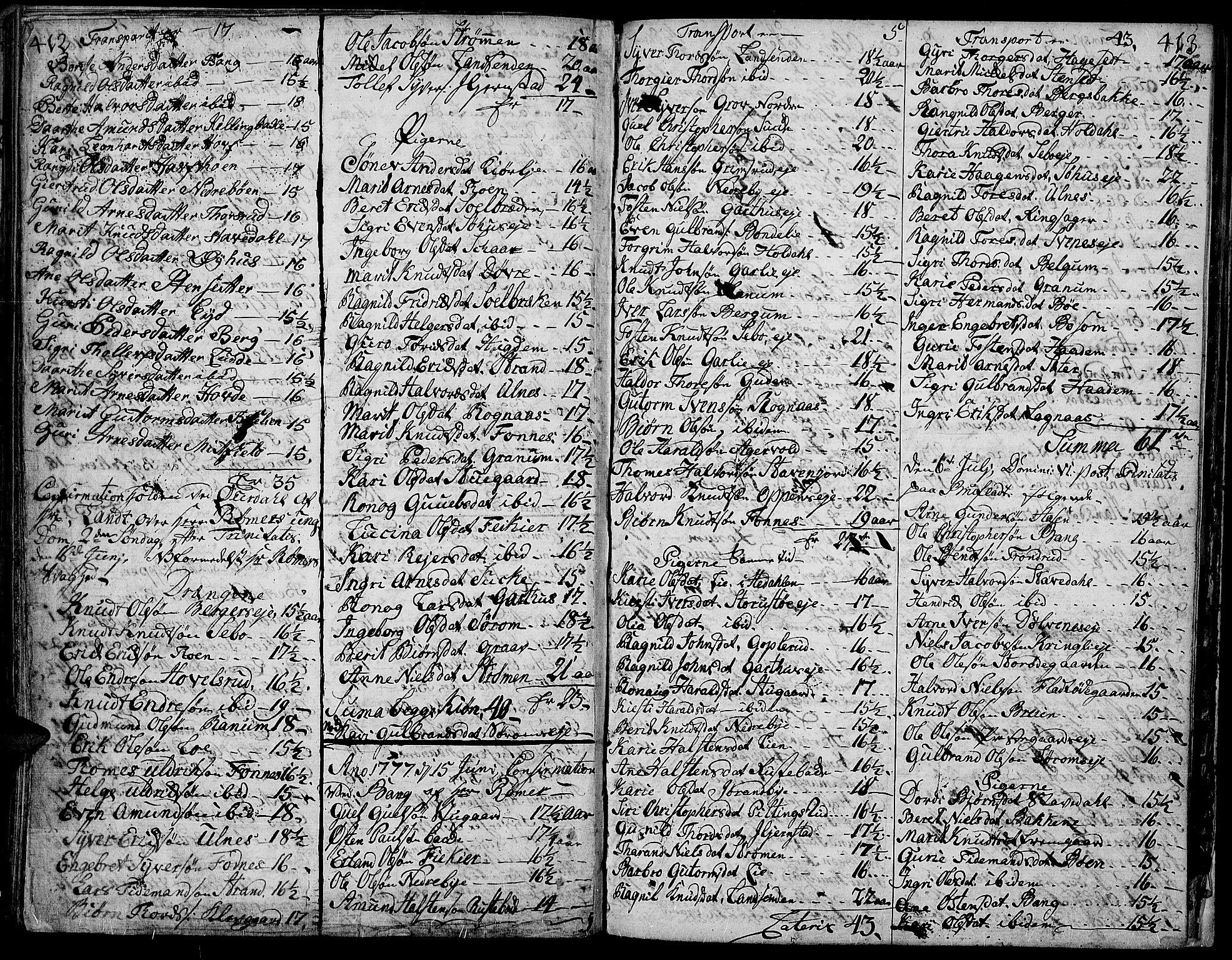 SAH, Aurdal prestekontor, Ministerialbok nr. 5, 1763-1781, s. 412-413