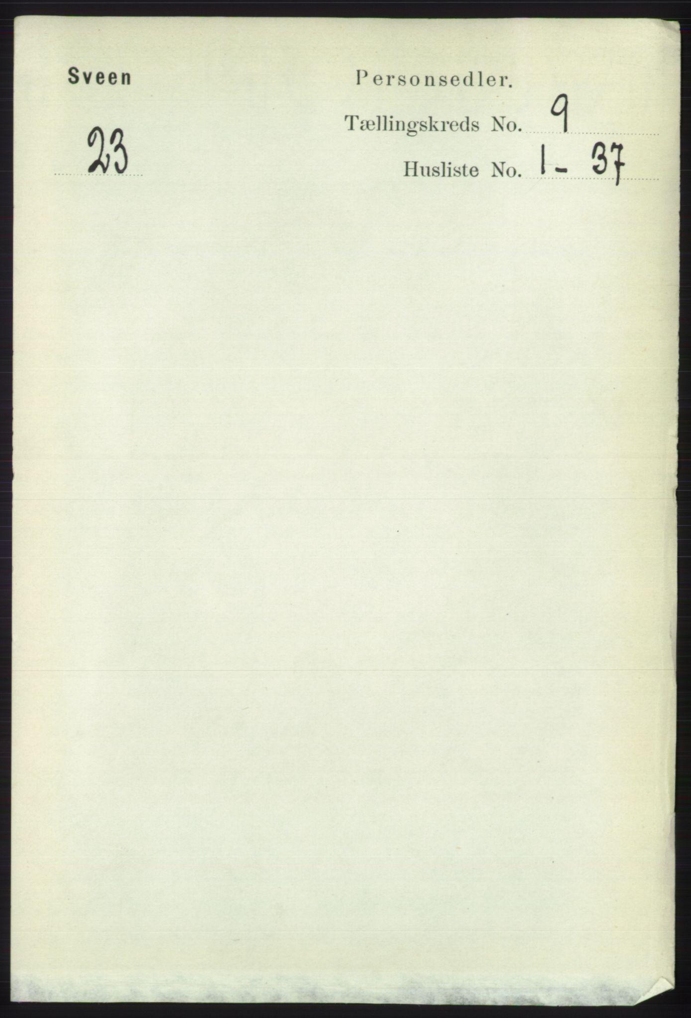 RA, Folketelling 1891 for 1216 Sveio herred, 1891, s. 2687