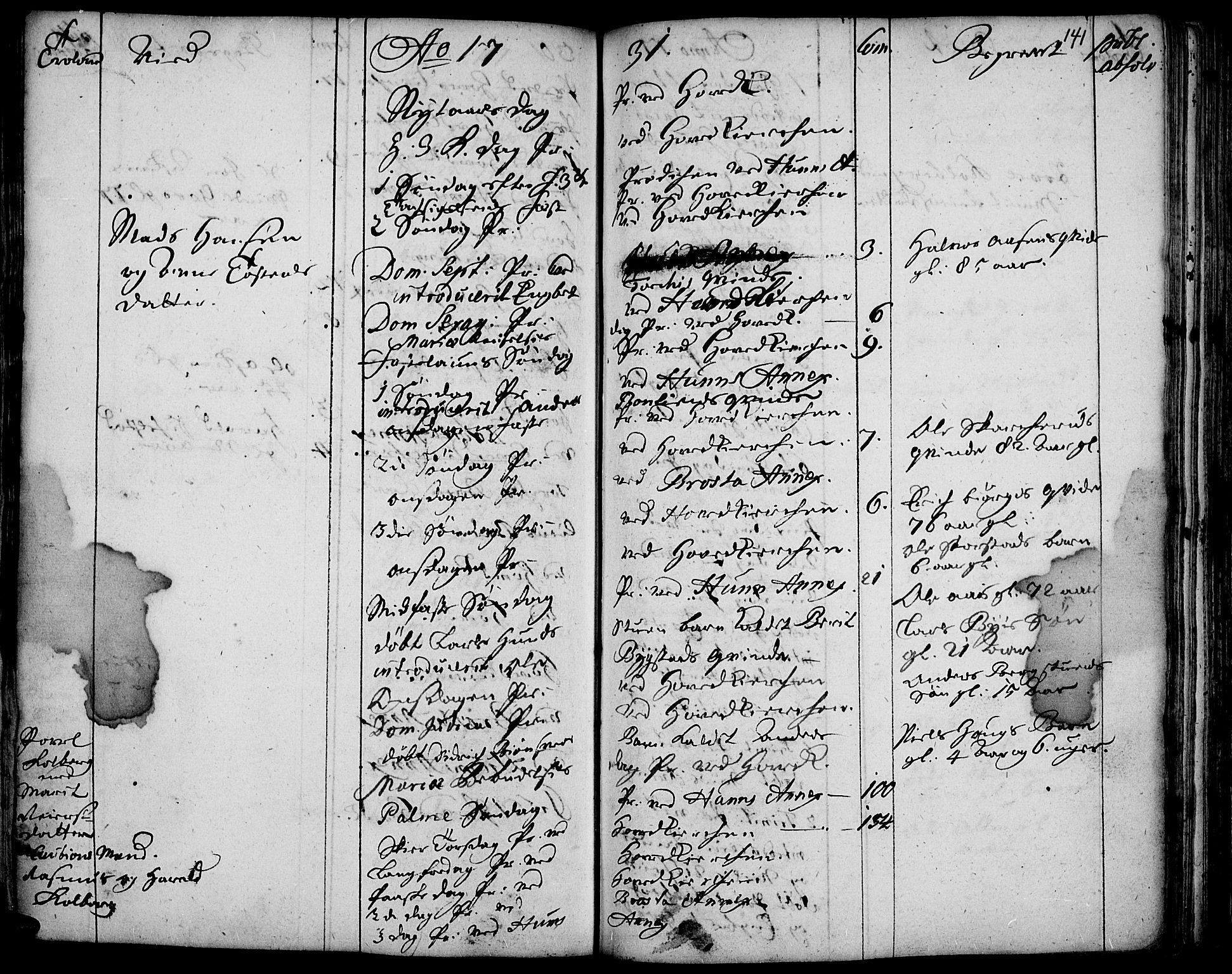 SAH, Vardal prestekontor, H/Ha/Haa/L0001: Ministerialbok nr. 1, 1706-1748, s. 141