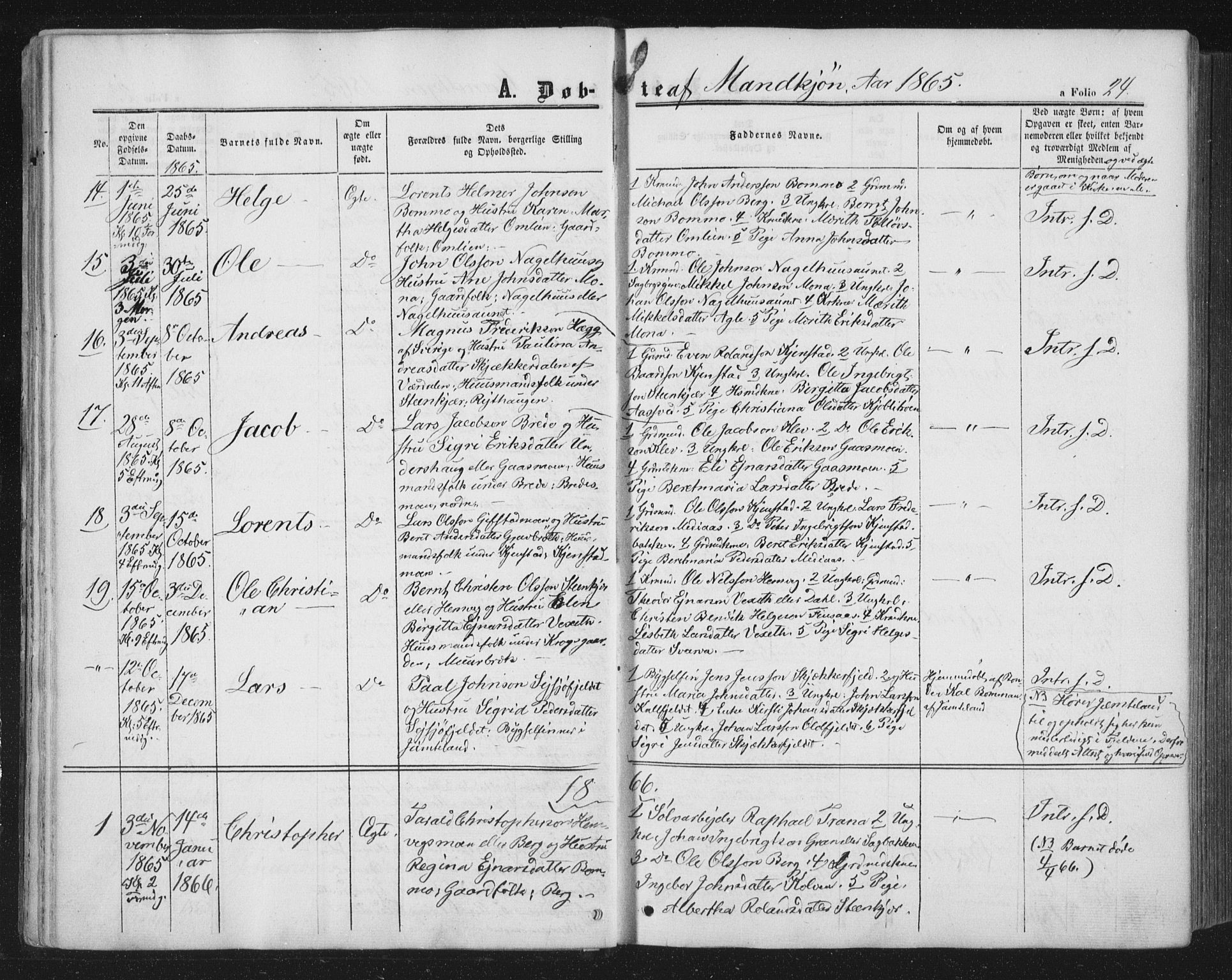 SAT, Ministerialprotokoller, klokkerbøker og fødselsregistre - Nord-Trøndelag, 749/L0472: Ministerialbok nr. 749A06, 1857-1873, s. 24