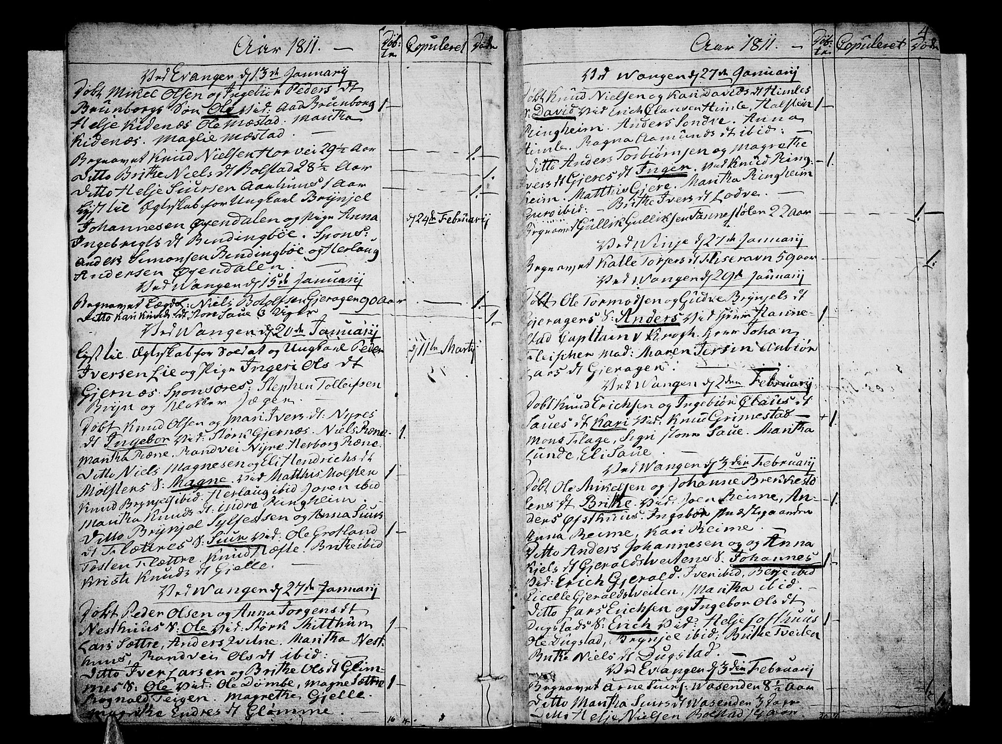 SAB, Voss Sokneprestembete, H/Haa: Ministerialbok nr. A 10, 1810-1821, s. 4
