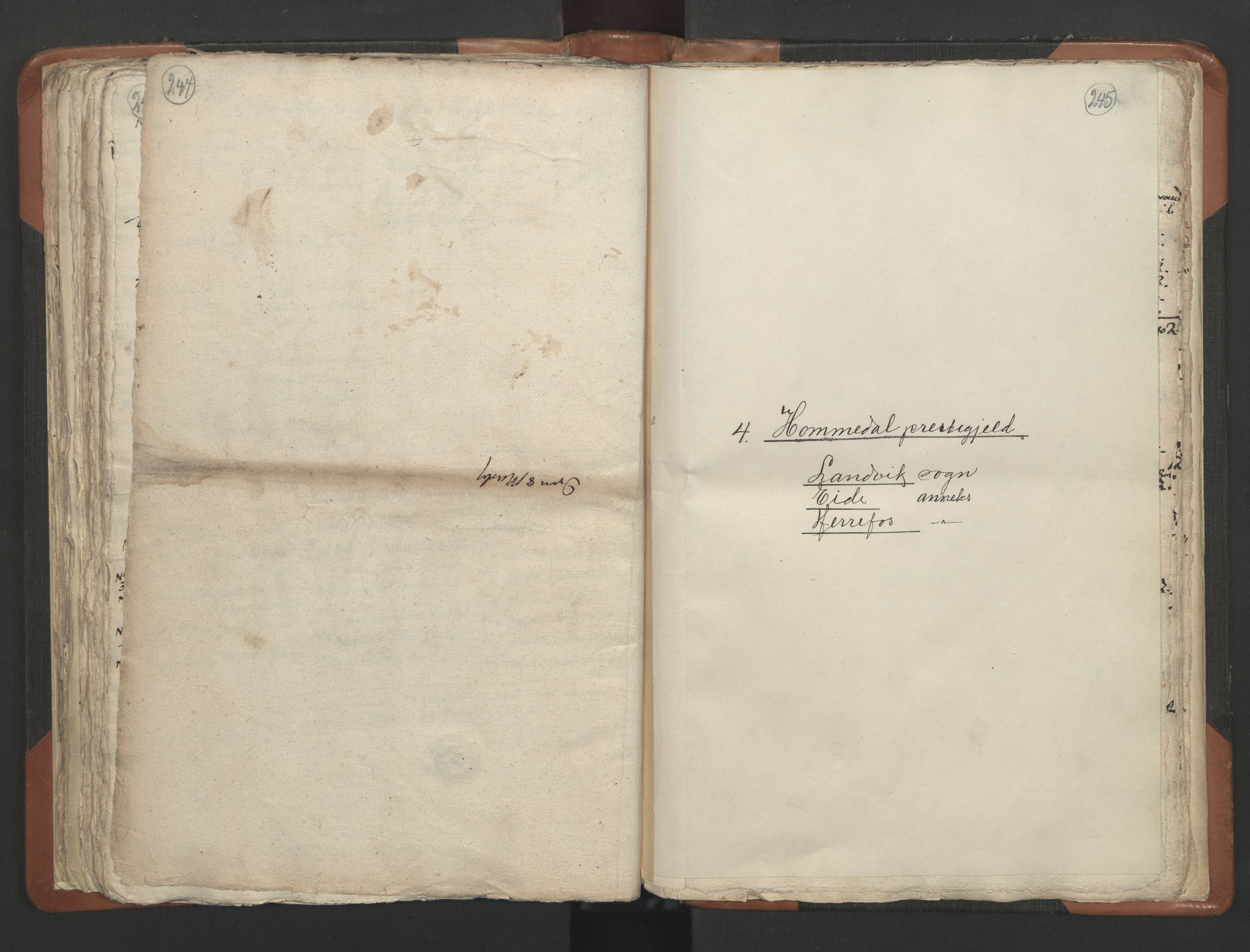 RA, Sogneprestenes manntall 1664-1666, nr. 13: Nedenes prosti, 1664-1666, s. 244-245