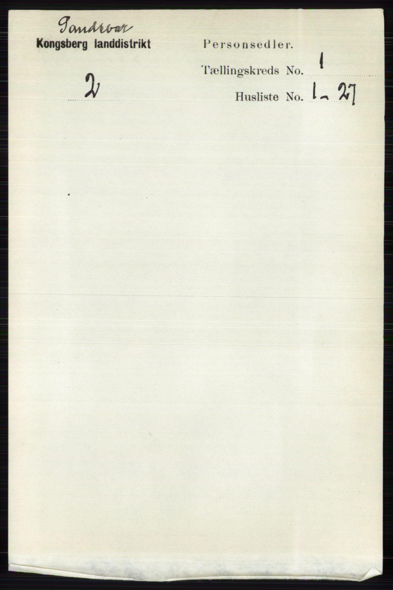 RA, Folketelling 1891 for 0629 Sandsvær herred, 1891, s. 5550