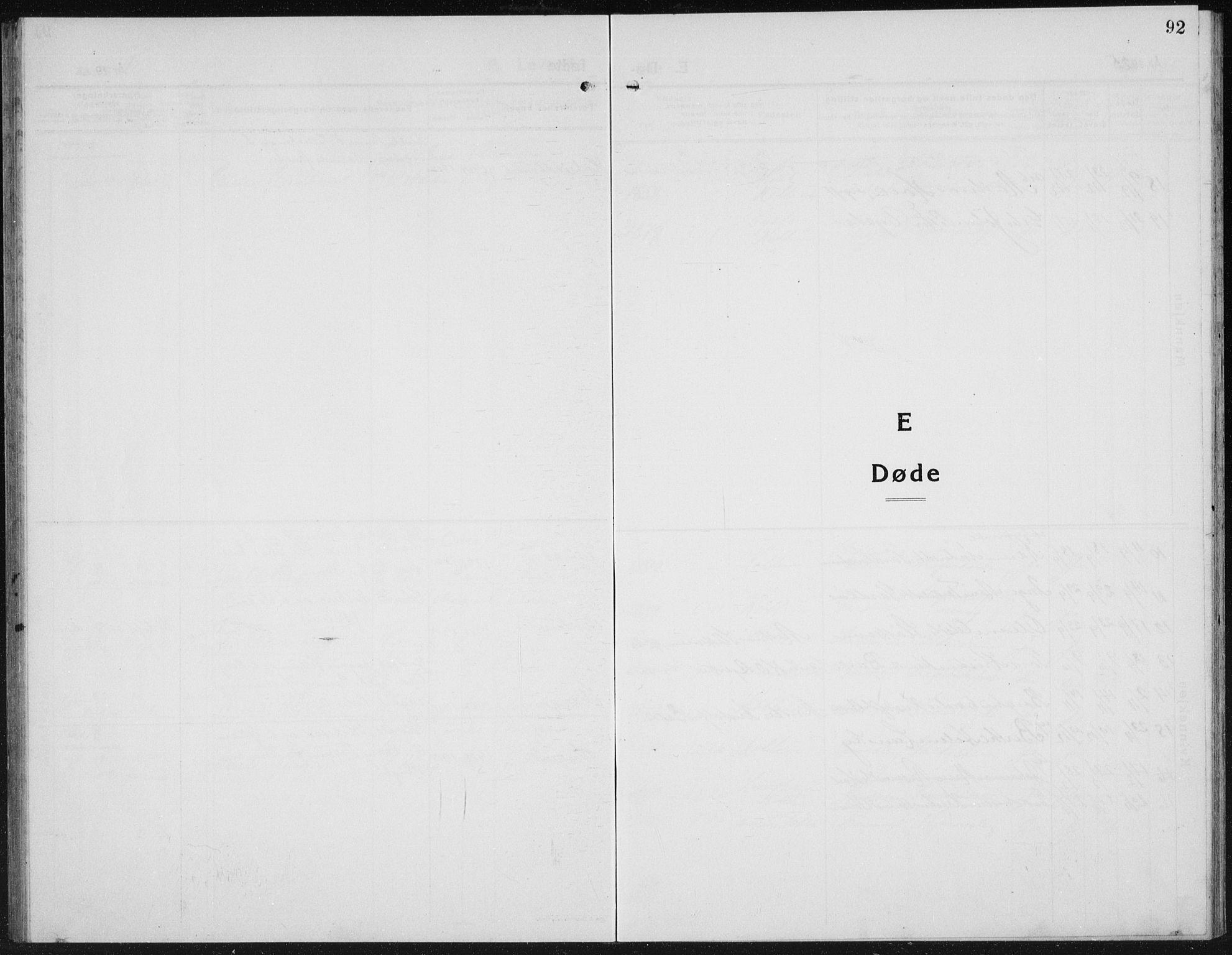 SAH, Kolbu prestekontor, Klokkerbok nr. 2, 1925-1942, s. 92