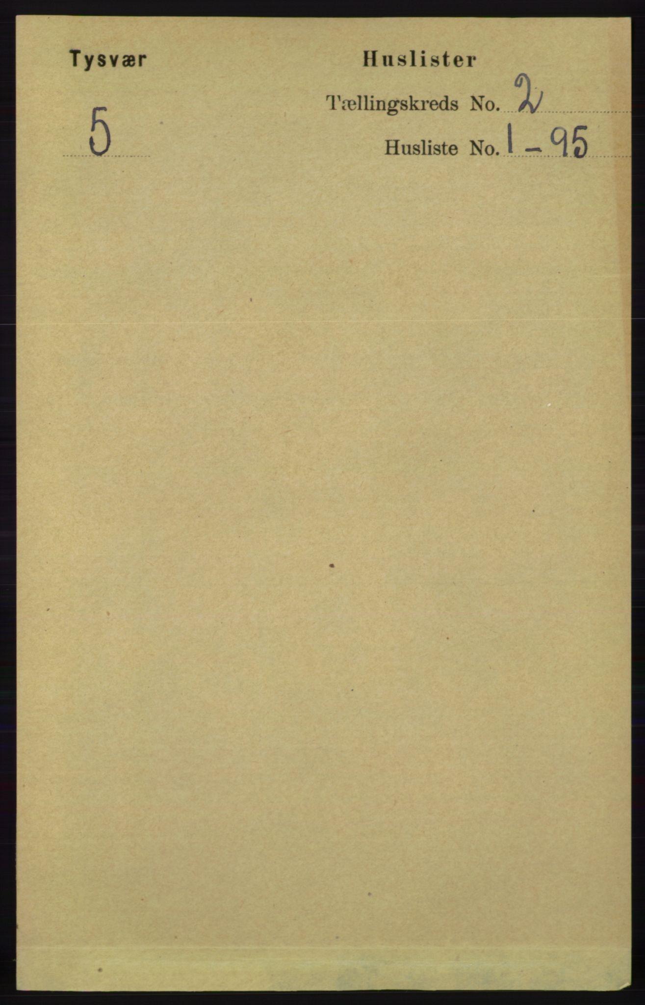RA, Folketelling 1891 for 1146 Tysvær herred, 1891, s. 601