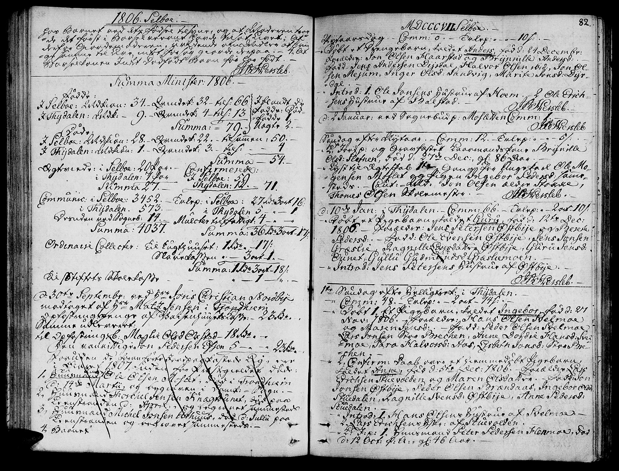SAT, Ministerialprotokoller, klokkerbøker og fødselsregistre - Sør-Trøndelag, 695/L1140: Ministerialbok nr. 695A03, 1801-1815, s. 82