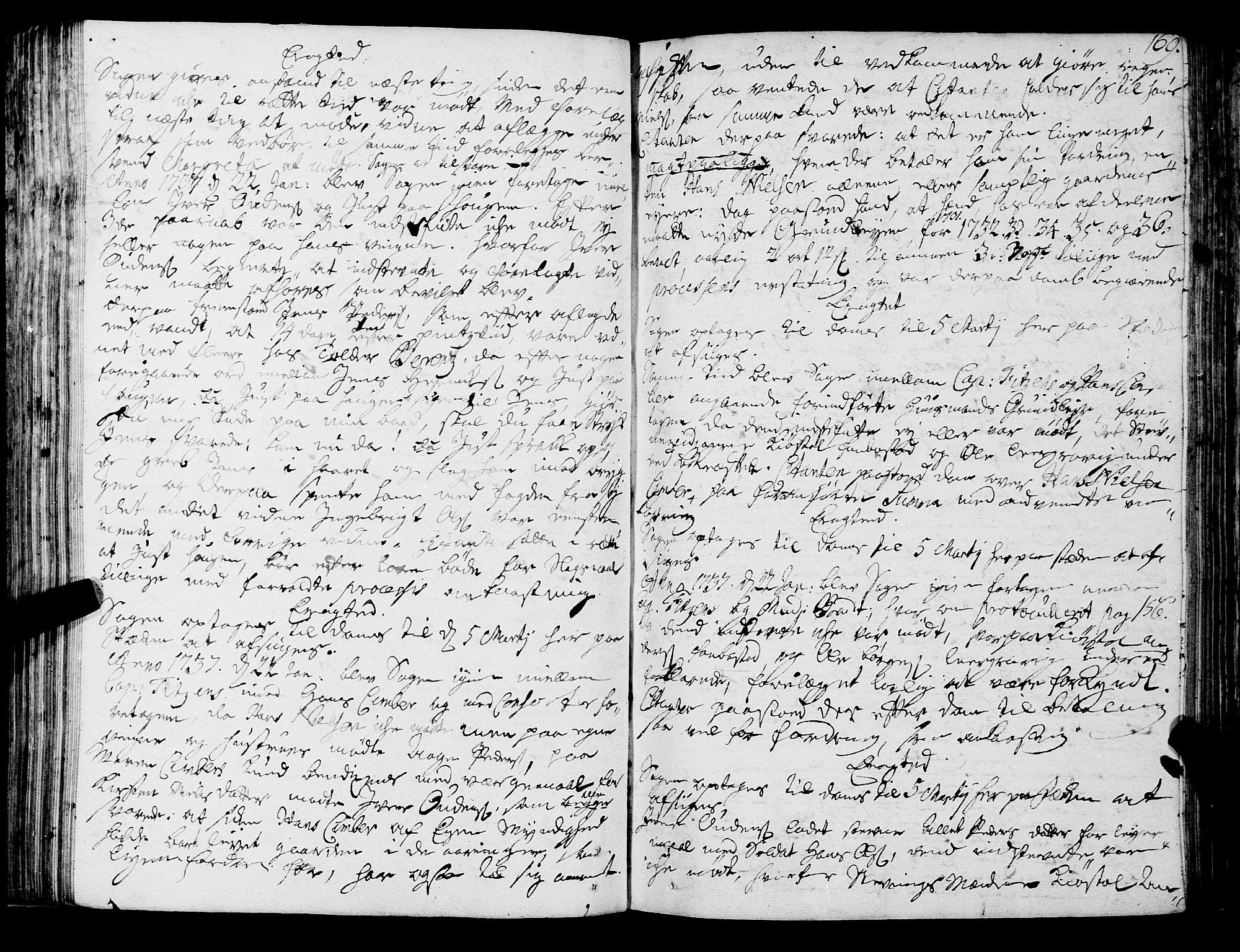 SAT, Romsdal sorenskriveri, 1/1A/L0011: Tingbok, 1732-1740, s. 168b-169a