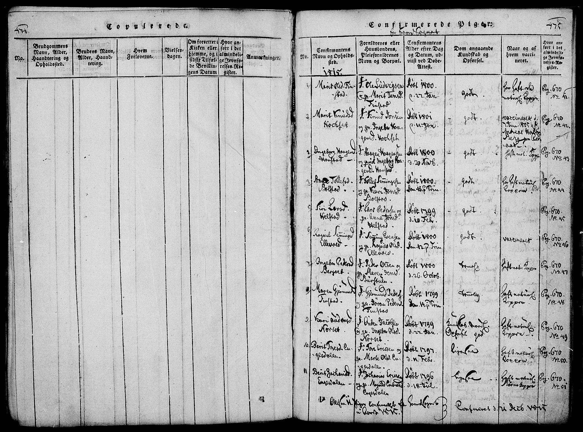 SAH, Rendalen prestekontor, H/Ha/Haa/L0003: Ministerialbok nr. 3, 1815-1829, s. 474-475