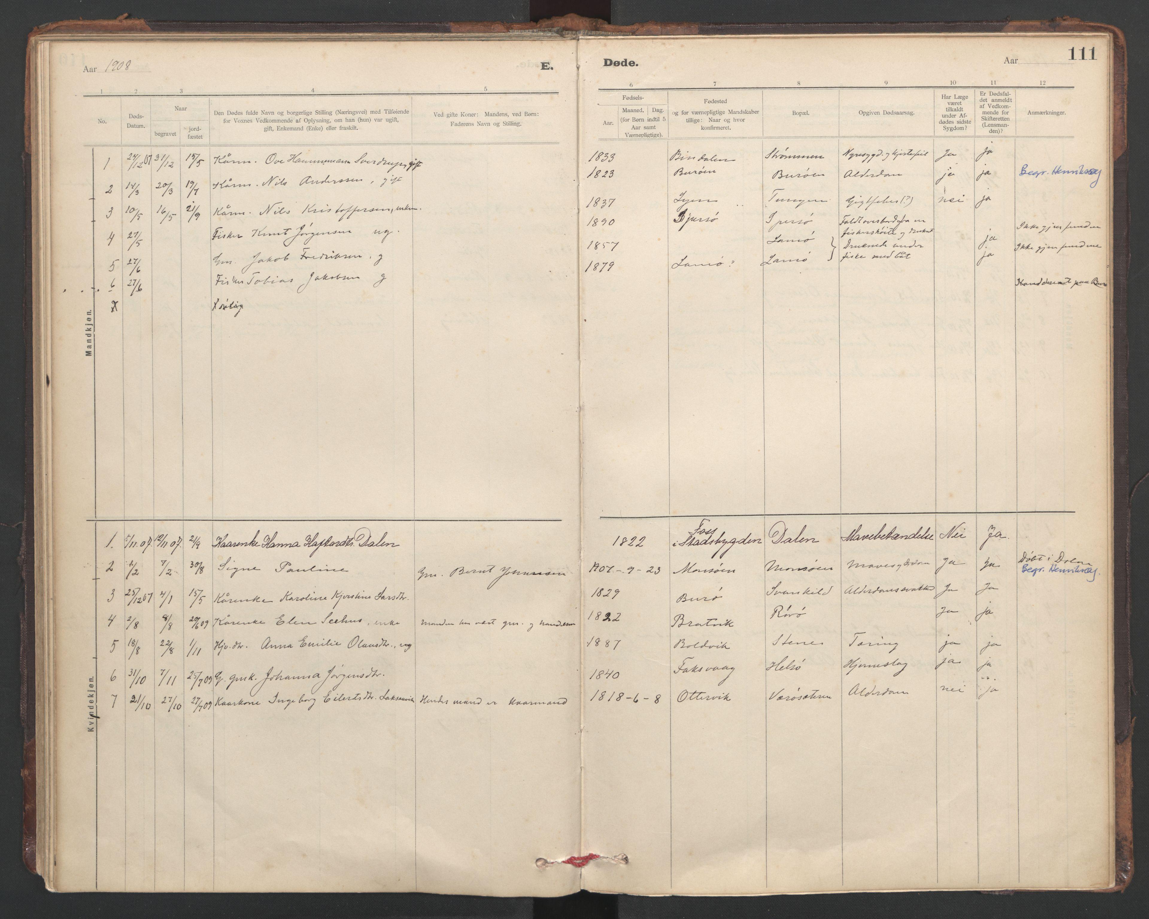 SAT, Ministerialprotokoller, klokkerbøker og fødselsregistre - Sør-Trøndelag, 635/L0552: Ministerialbok nr. 635A02, 1899-1919, s. 111