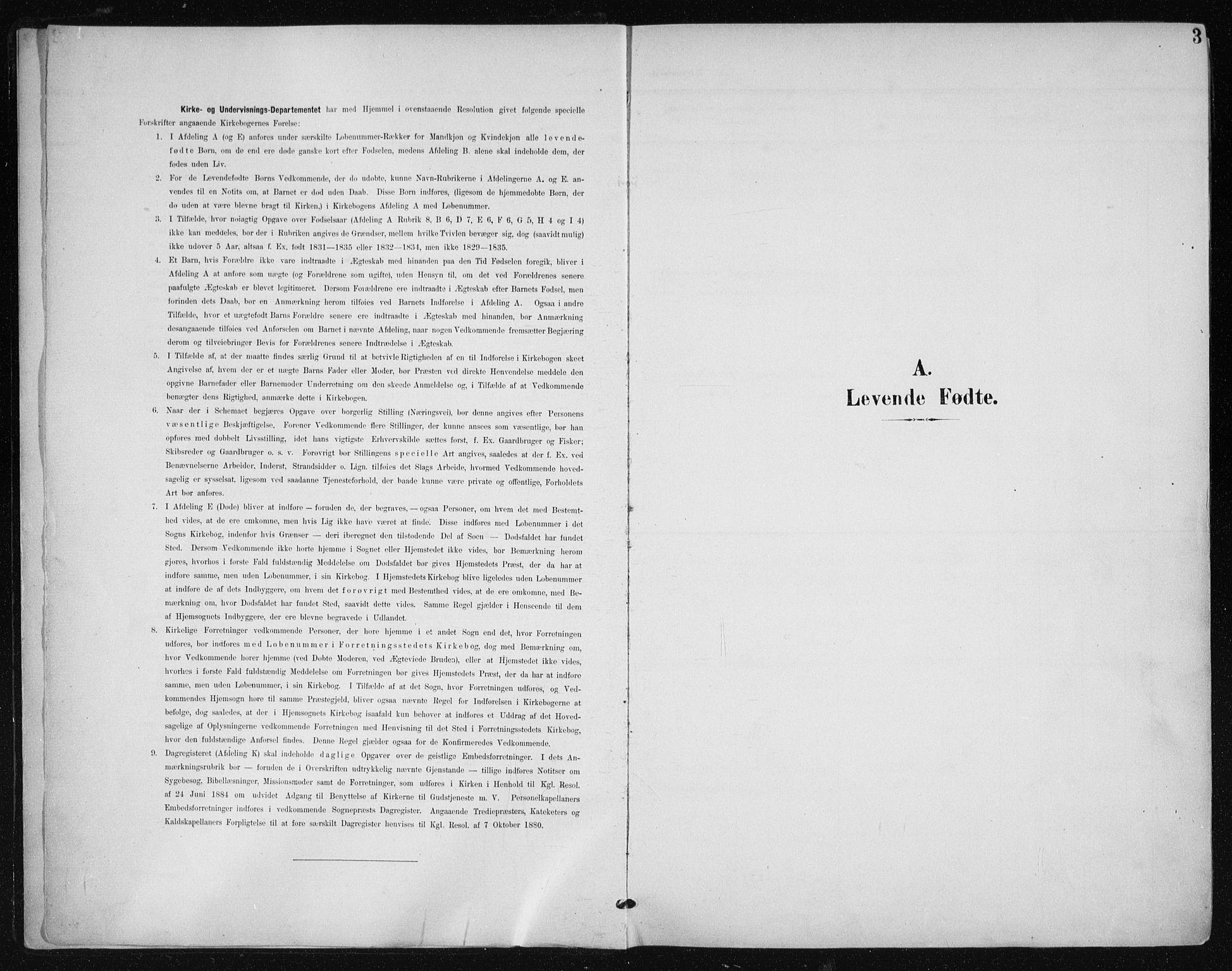 SAT, Ministerialprotokoller, klokkerbøker og fødselsregistre - Sør-Trøndelag, 612/L0380: Ministerialbok nr. 612A12, 1898-1907, s. 3