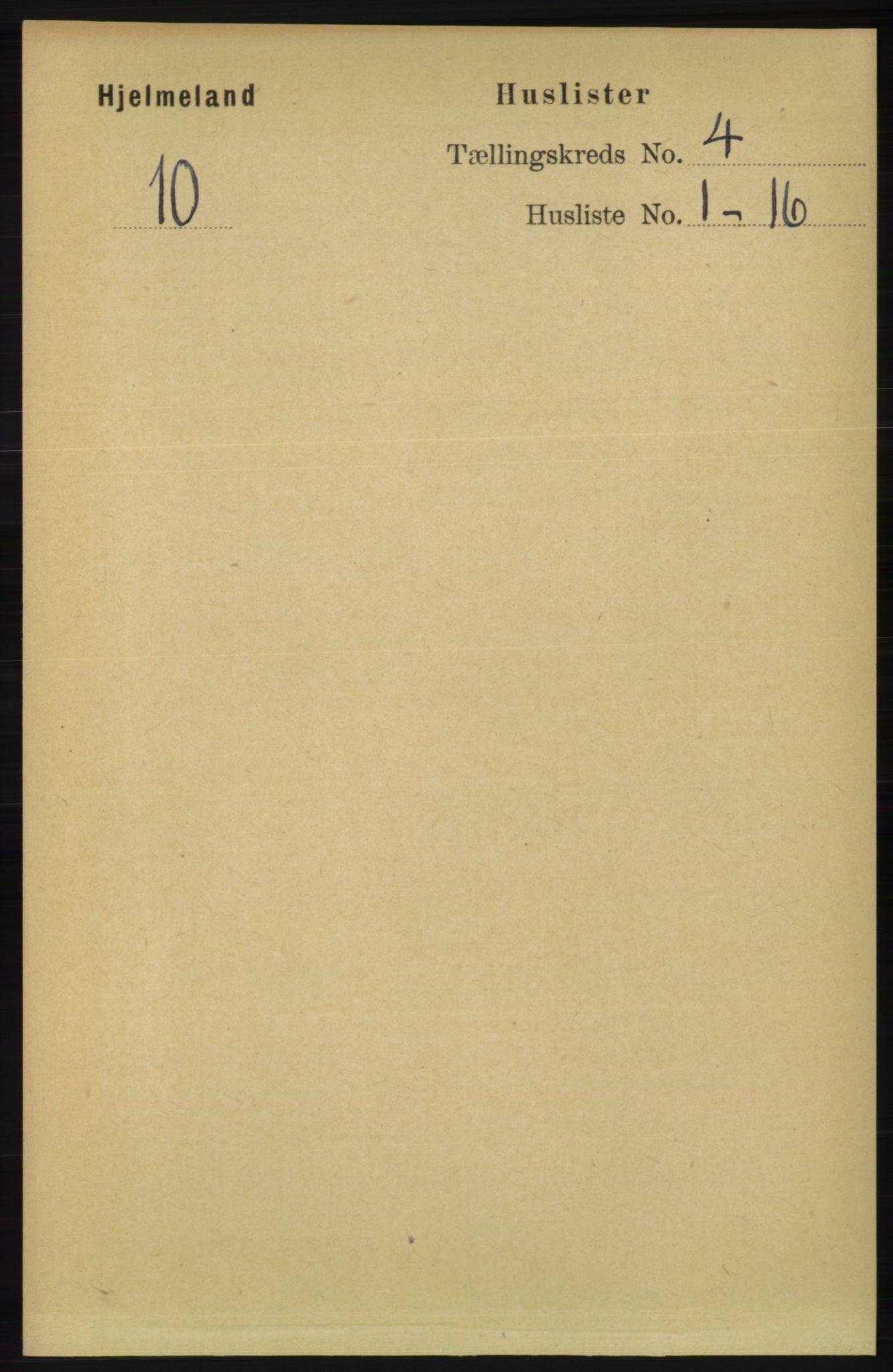 RA, Folketelling 1891 for 1133 Hjelmeland herred, 1891, s. 981