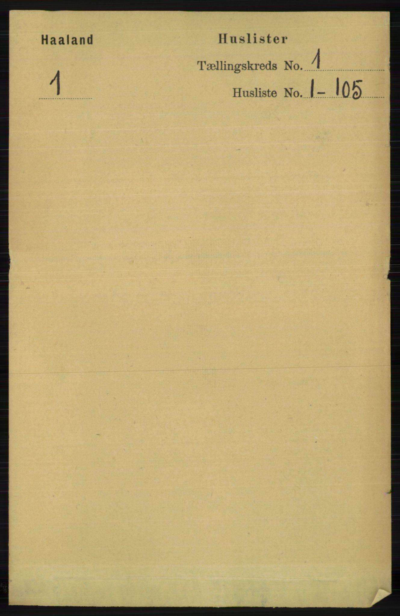 RA, Folketelling 1891 for 1124 Haaland herred, 1891, s. 23