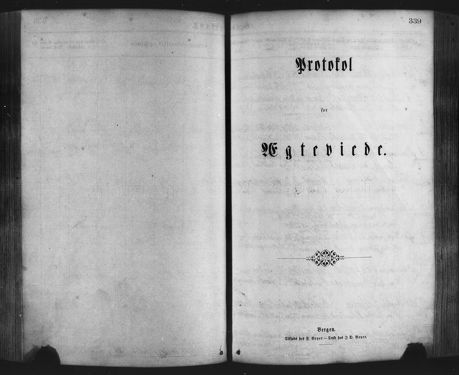 SAB, Hamre Sokneprestembete, H/Haa: Ministerialbok nr. A 15, 1870-1881, s. 339