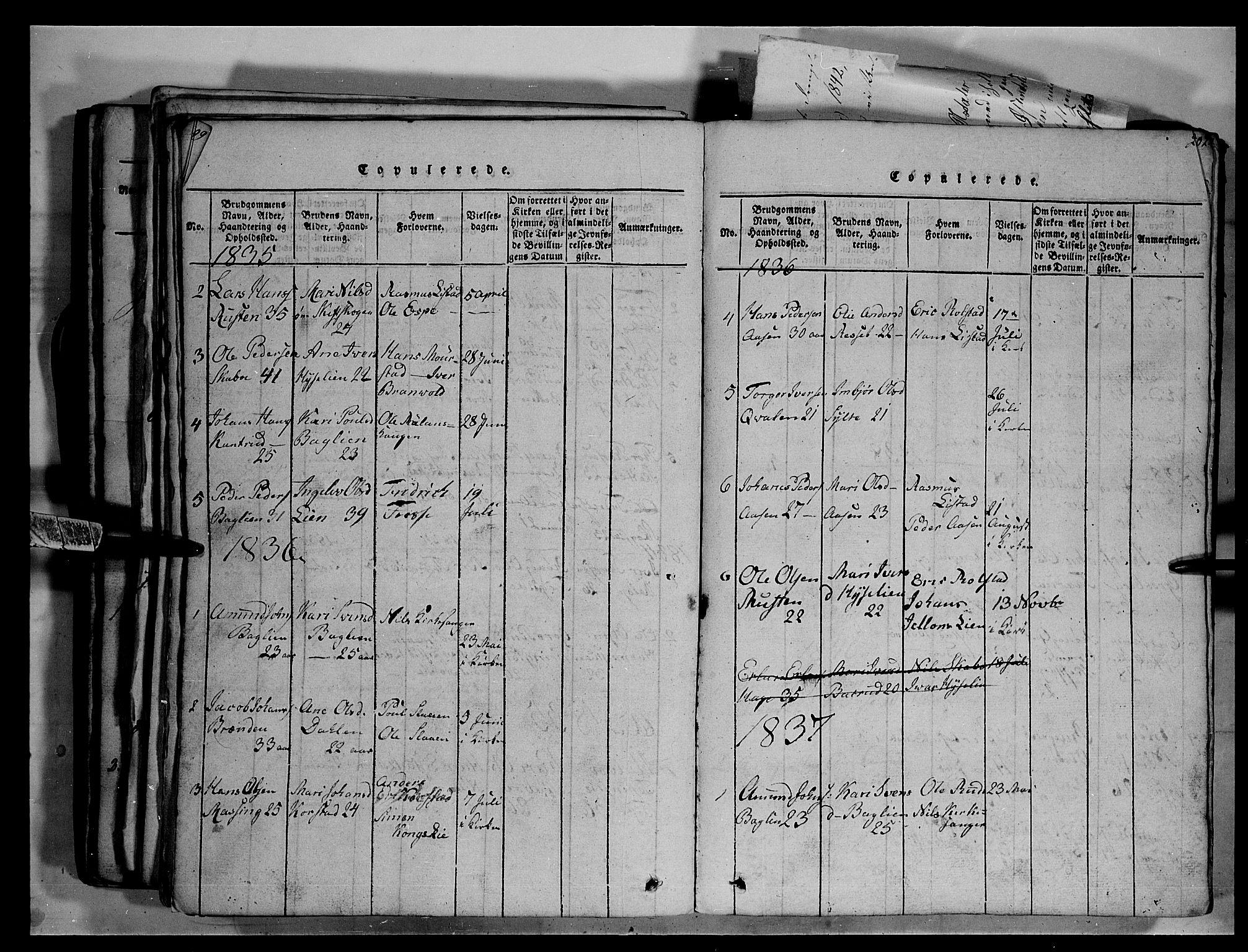 SAH, Fron prestekontor, H/Ha/Hab/L0003: Klokkerbok nr. 3, 1816-1850, s. 200