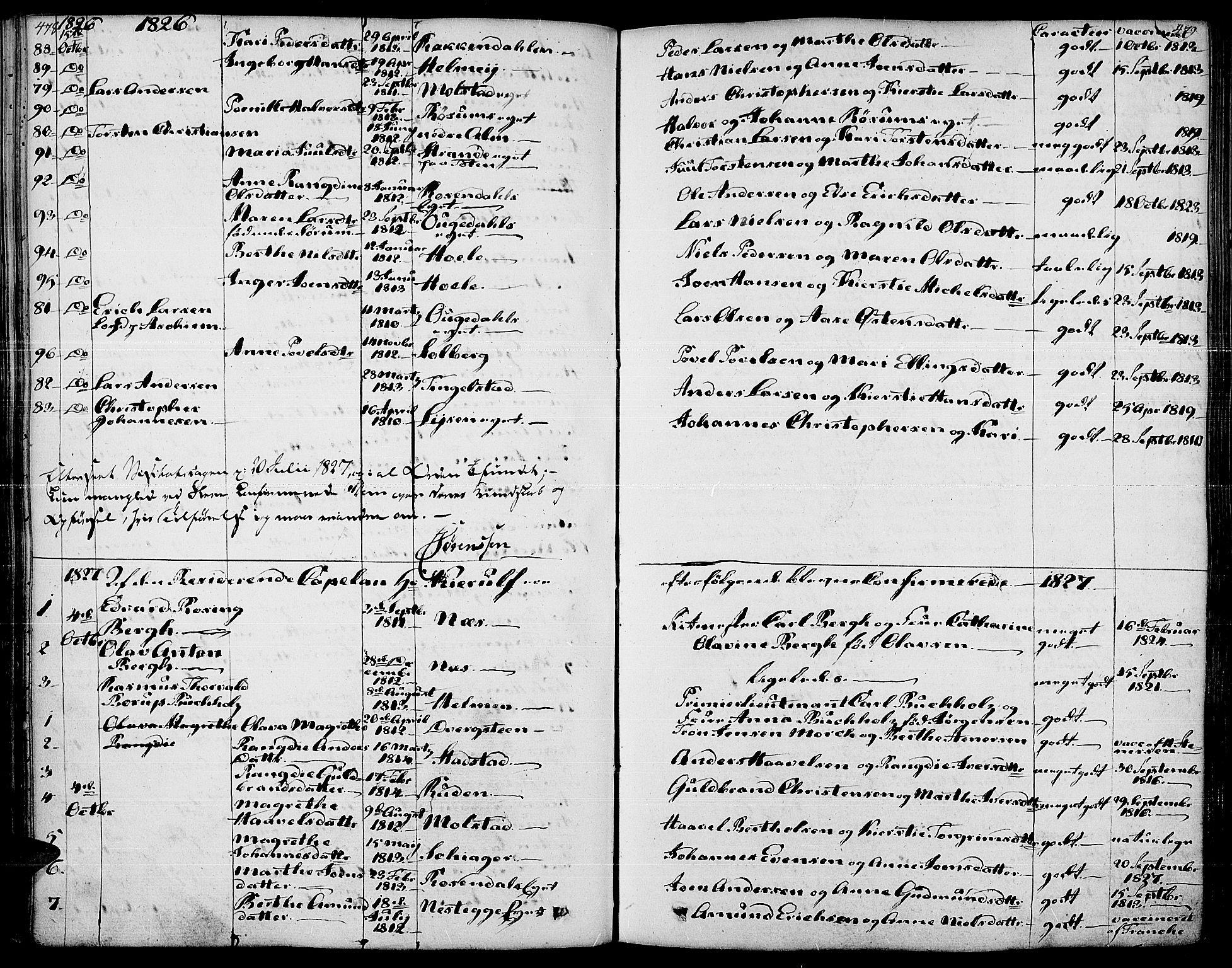 SAH, Gran prestekontor, Ministerialbok nr. 10, 1824-1842, s. 478-479