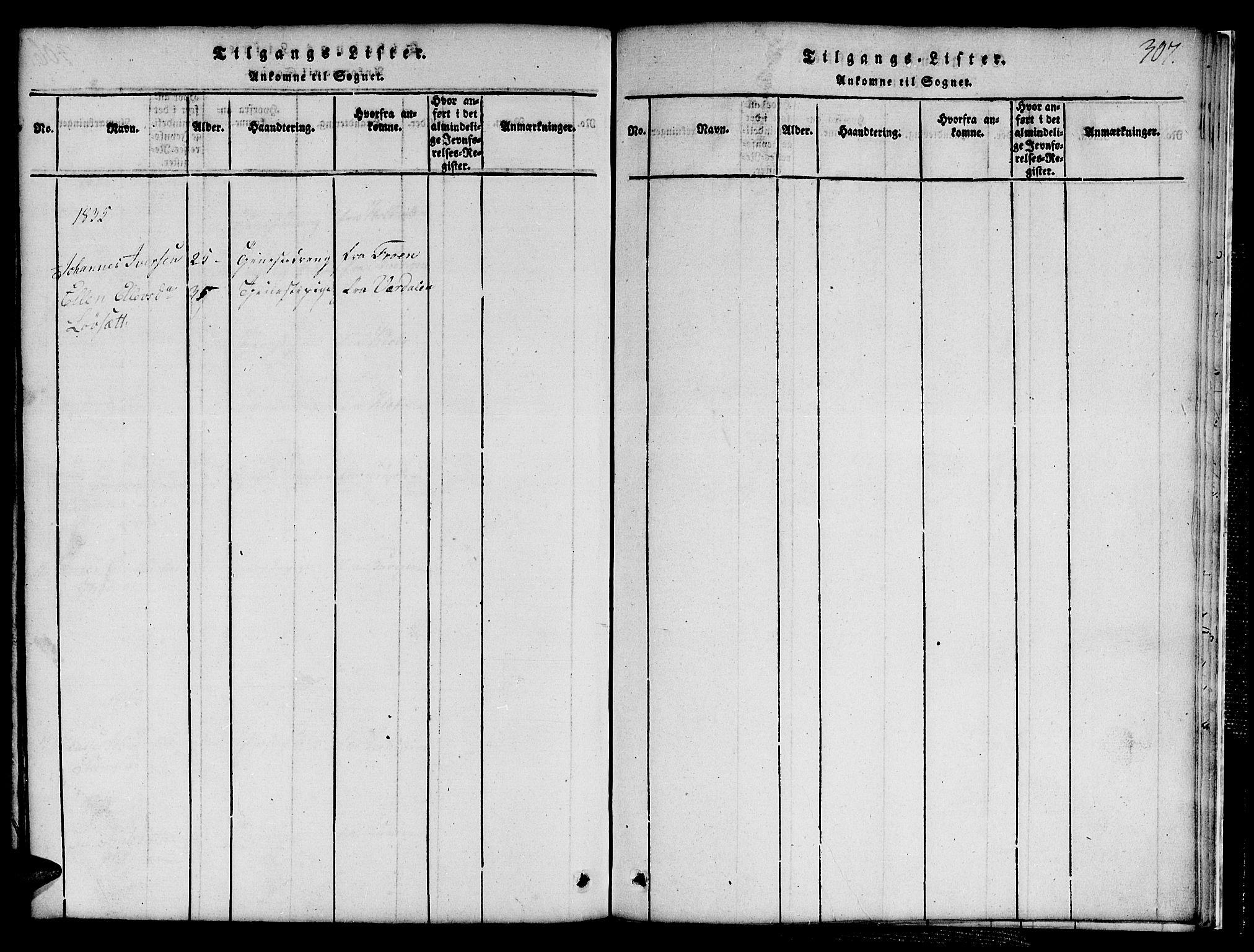 SAT, Ministerialprotokoller, klokkerbøker og fødselsregistre - Sør-Trøndelag, 691/L1092: Klokkerbok nr. 691C03, 1816-1852, s. 307