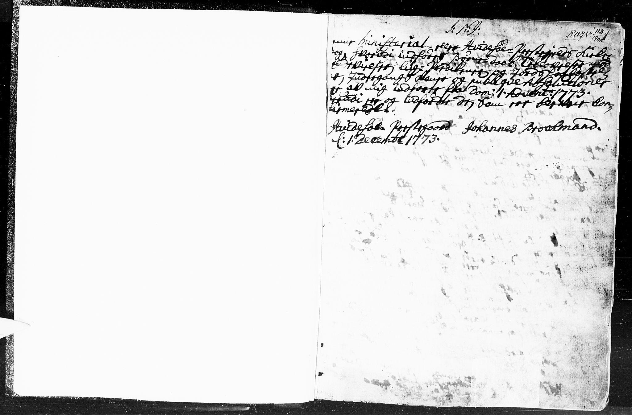 SAKO, Kviteseid kirkebøker, F/Fa/L0002: Ministerialbok nr. I 2, 1773-1786, s. 1