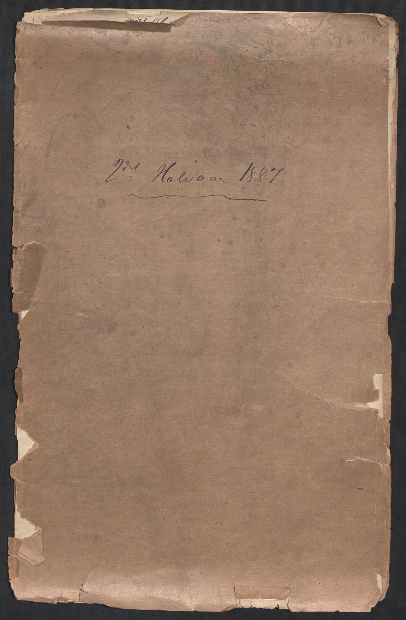 NHMO, Naturhistorisk museum (Oslo), 2: Fugl. Observasjonsliste. 2. halvår 1887., 1887