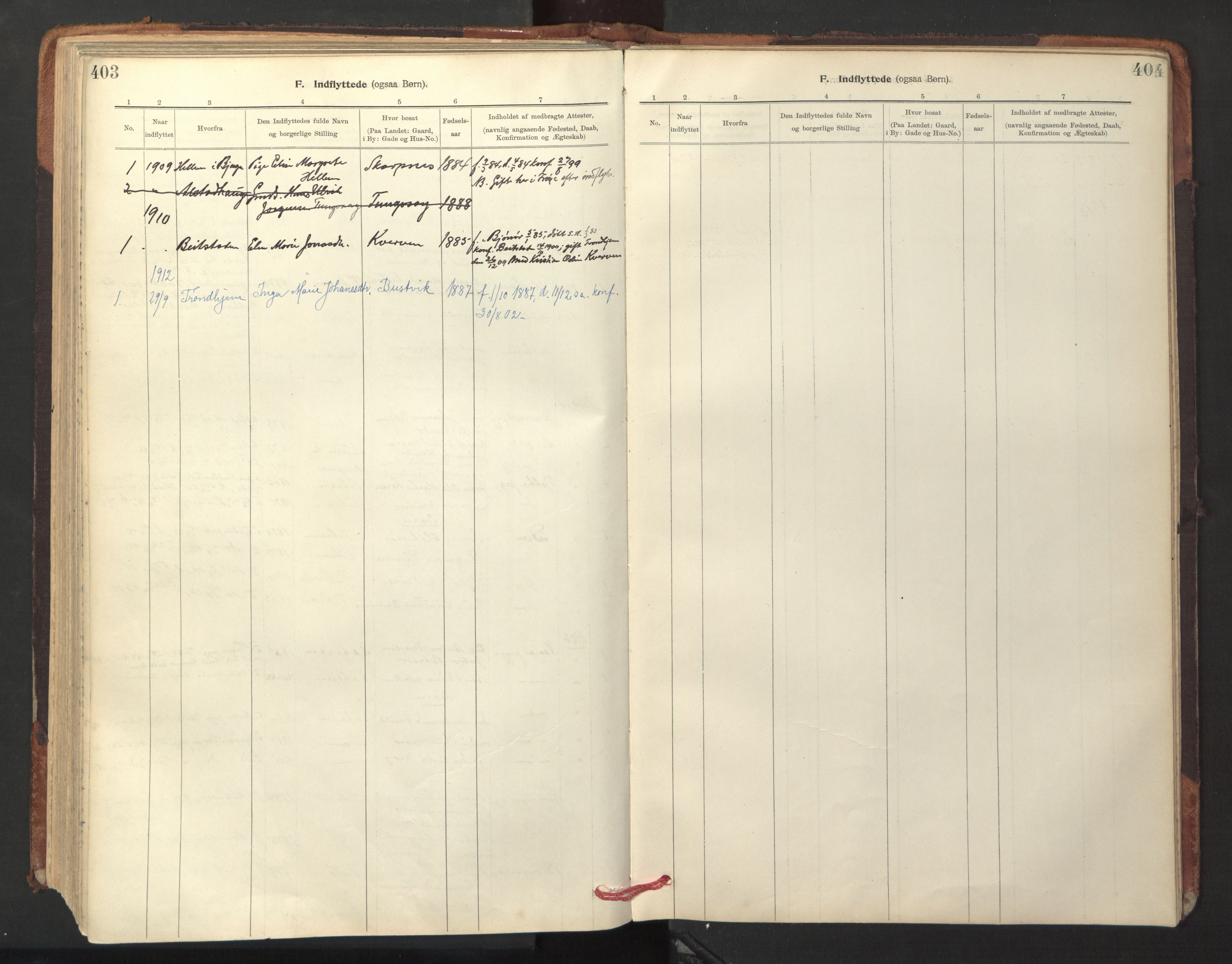 SAT, Ministerialprotokoller, klokkerbøker og fødselsregistre - Sør-Trøndelag, 641/L0596: Ministerialbok nr. 641A02, 1898-1915, s. 403-404