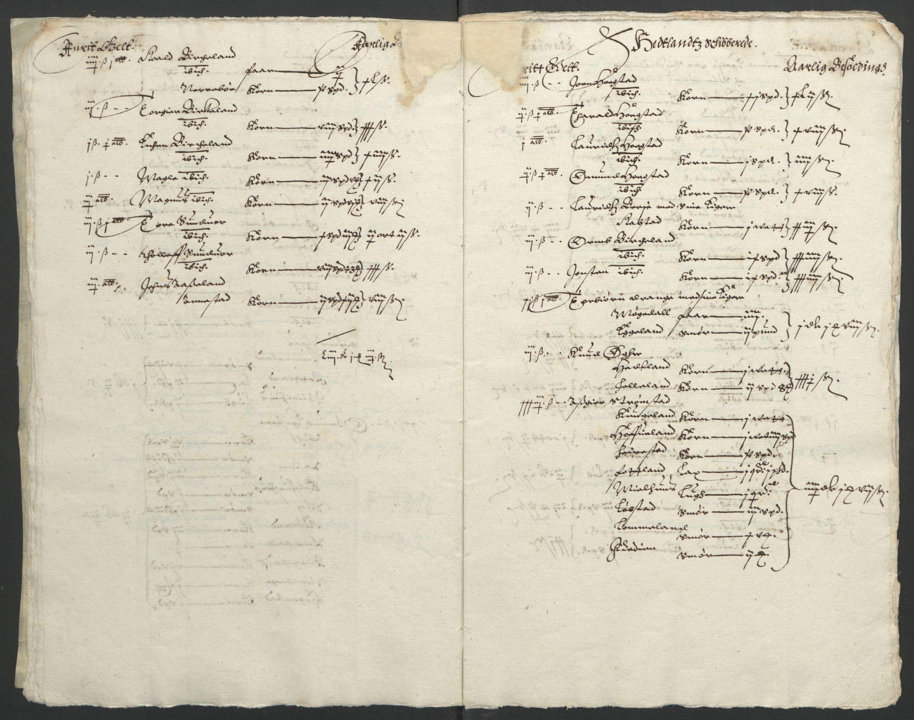 RA, Stattholderembetet 1572-1771, Ek/L0010: Jordebøker til utlikning av rosstjeneste 1624-1626:, 1624-1626, s. 101