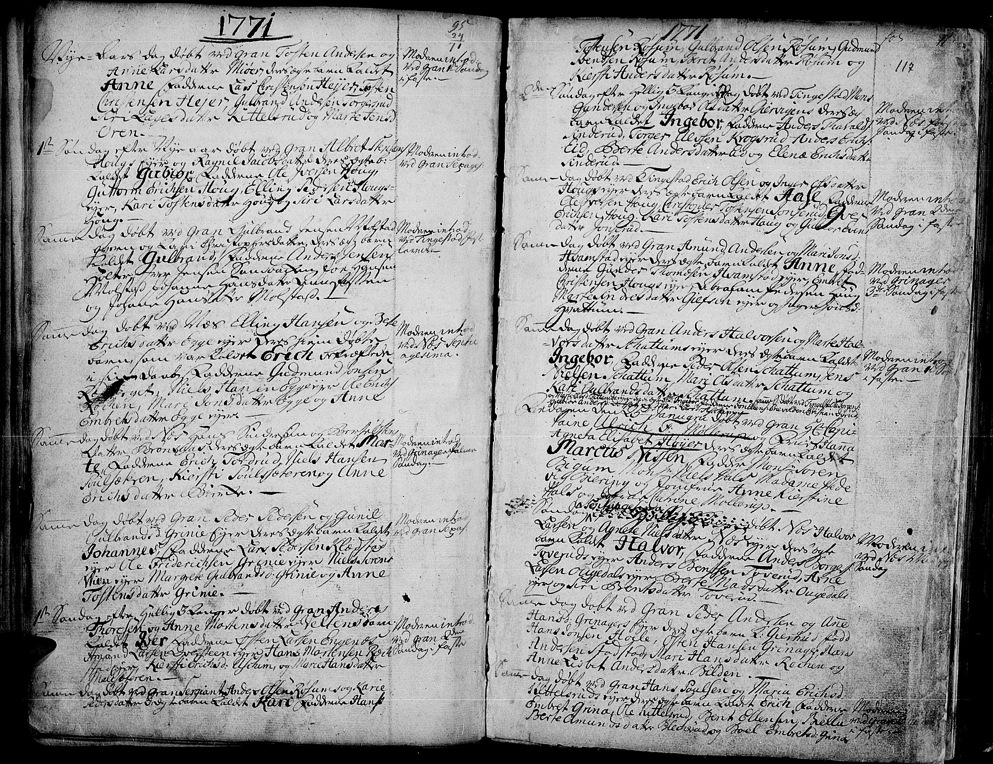 SAH, Gran prestekontor, Ministerialbok nr. 4, 1759-1775, s. 117