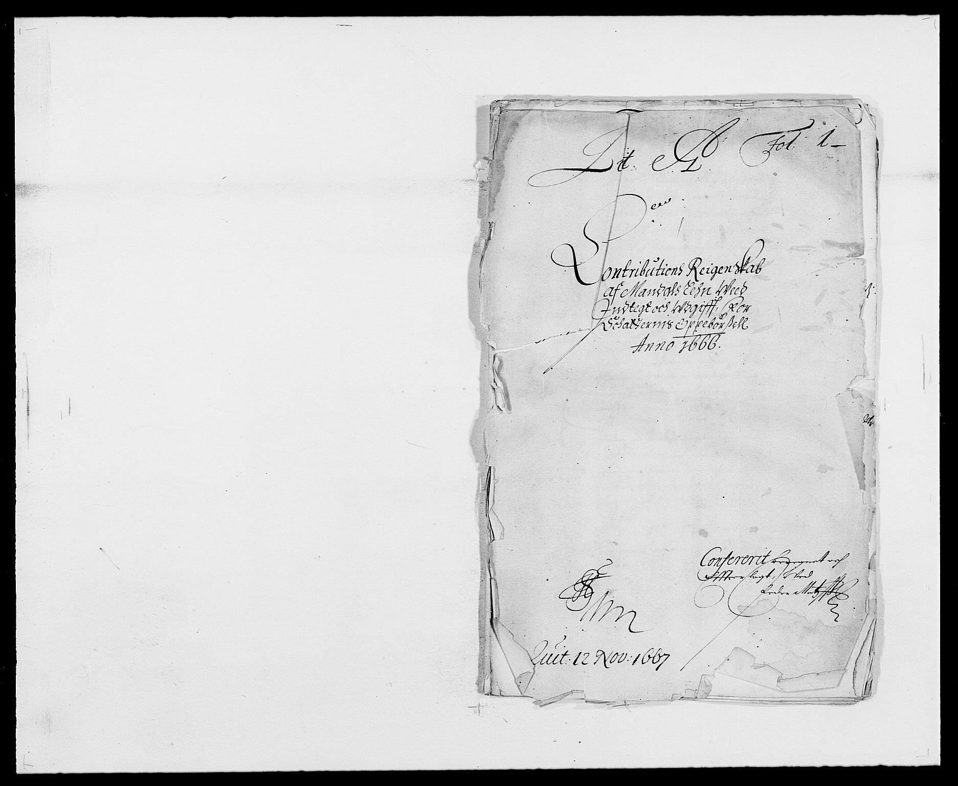 RA, Rentekammeret inntil 1814, Reviderte regnskaper, Fogderegnskap, R42/L2537: Mandal fogderi, 1664-1666, s. 197