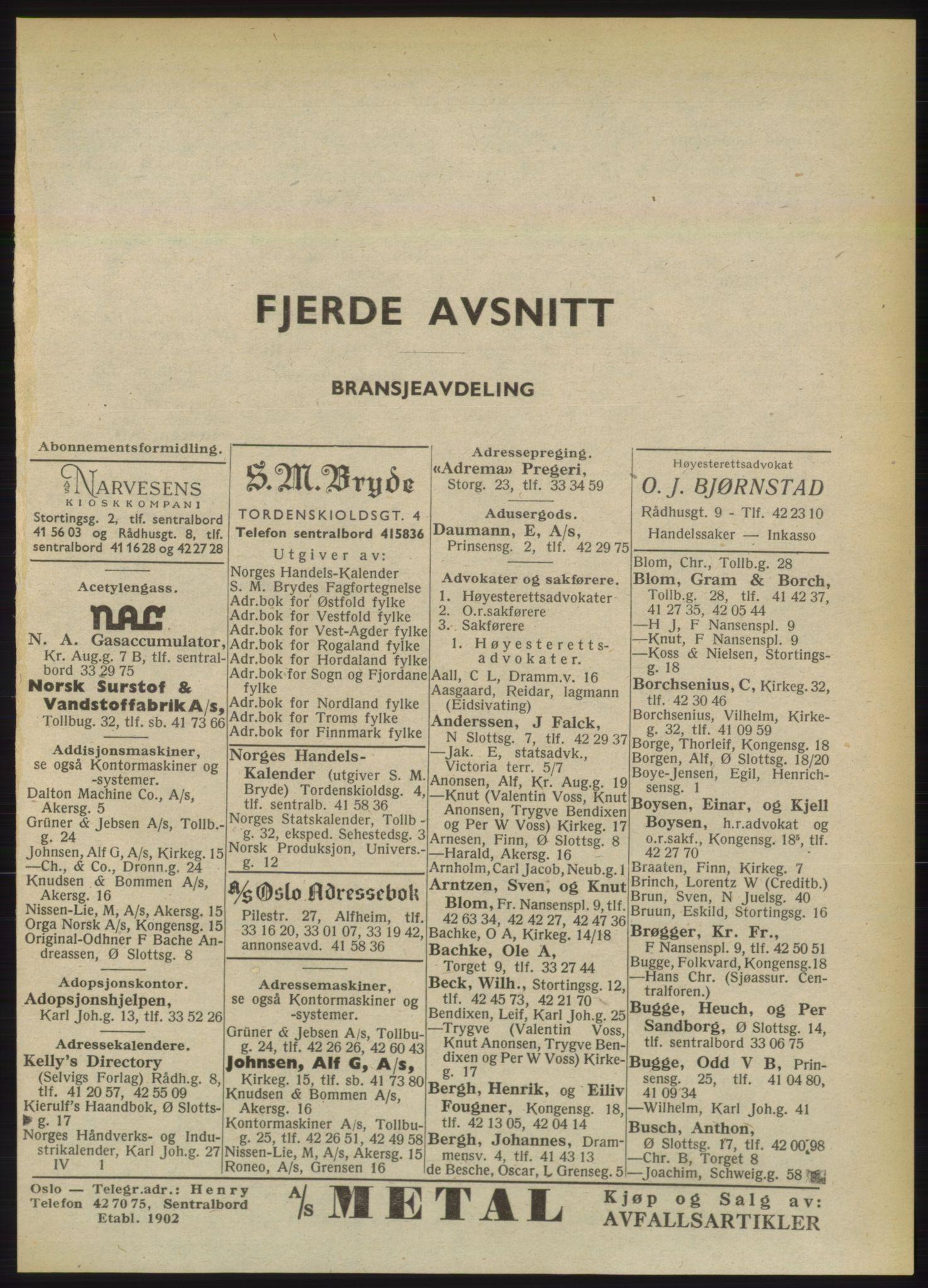 RA, Oslo adressebok (publikasjon)*, 1949, s. 2417