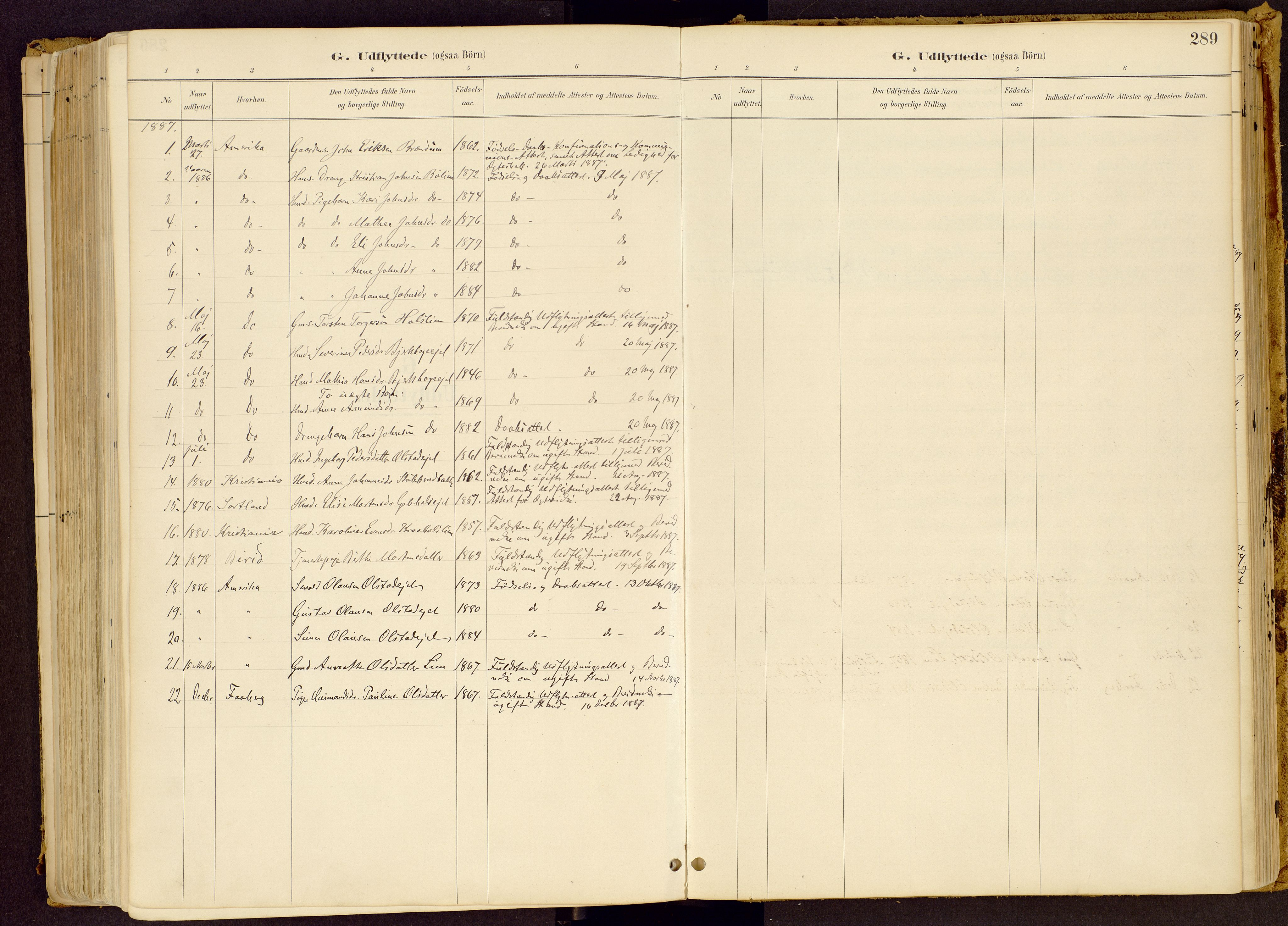 SAH, Vestre Gausdal prestekontor, Ministerialbok nr. 1, 1887-1914, s. 289