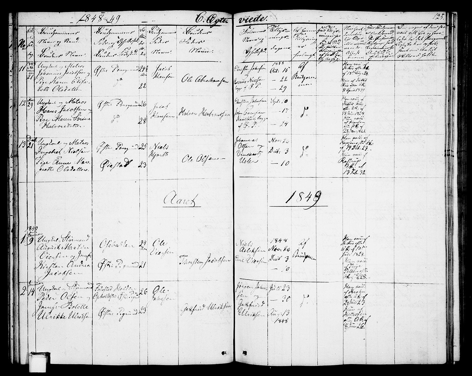 SAKO, Porsgrunn kirkebøker , G/Gb/L0003: Klokkerbok nr. II 3, 1841-1852, s. 125