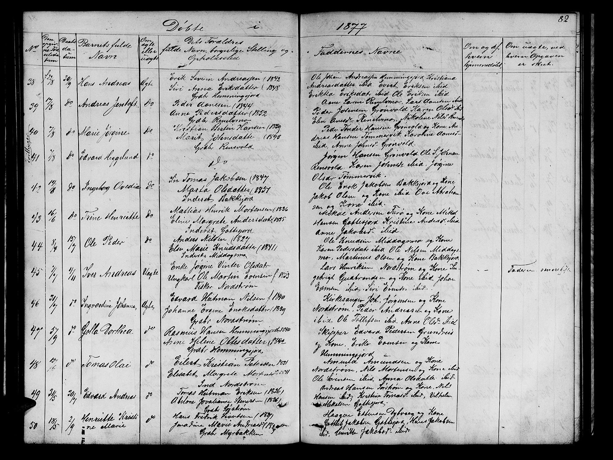 SATØ, Tranøy sokneprestkontor, I/Ia/Iab/L0021klokker: Klokkerbok nr. 21, 1861-1886, s. 82