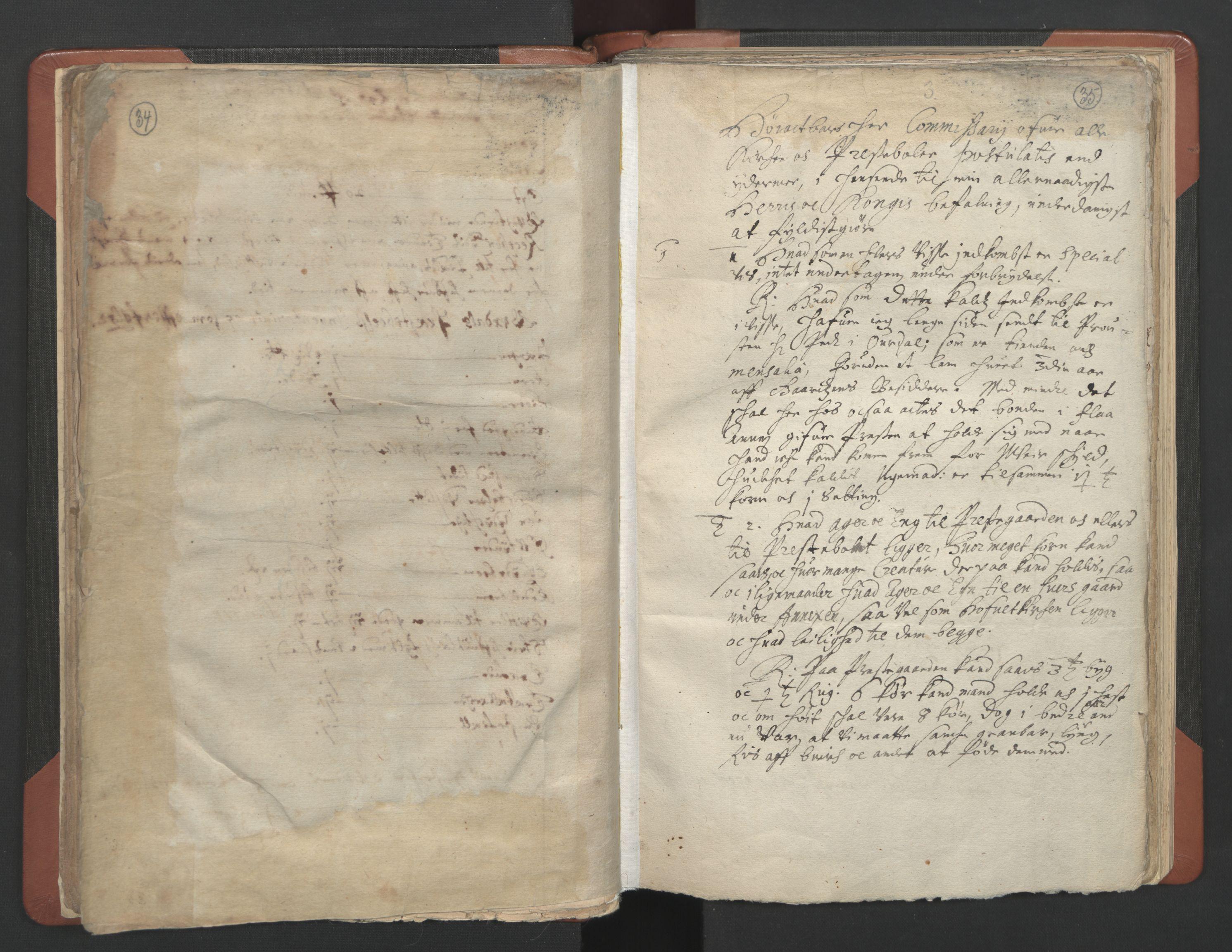 RA, Sogneprestenes manntall 1664-1666, nr. 8: Valdres prosti, 1664-1666, s. 34-35