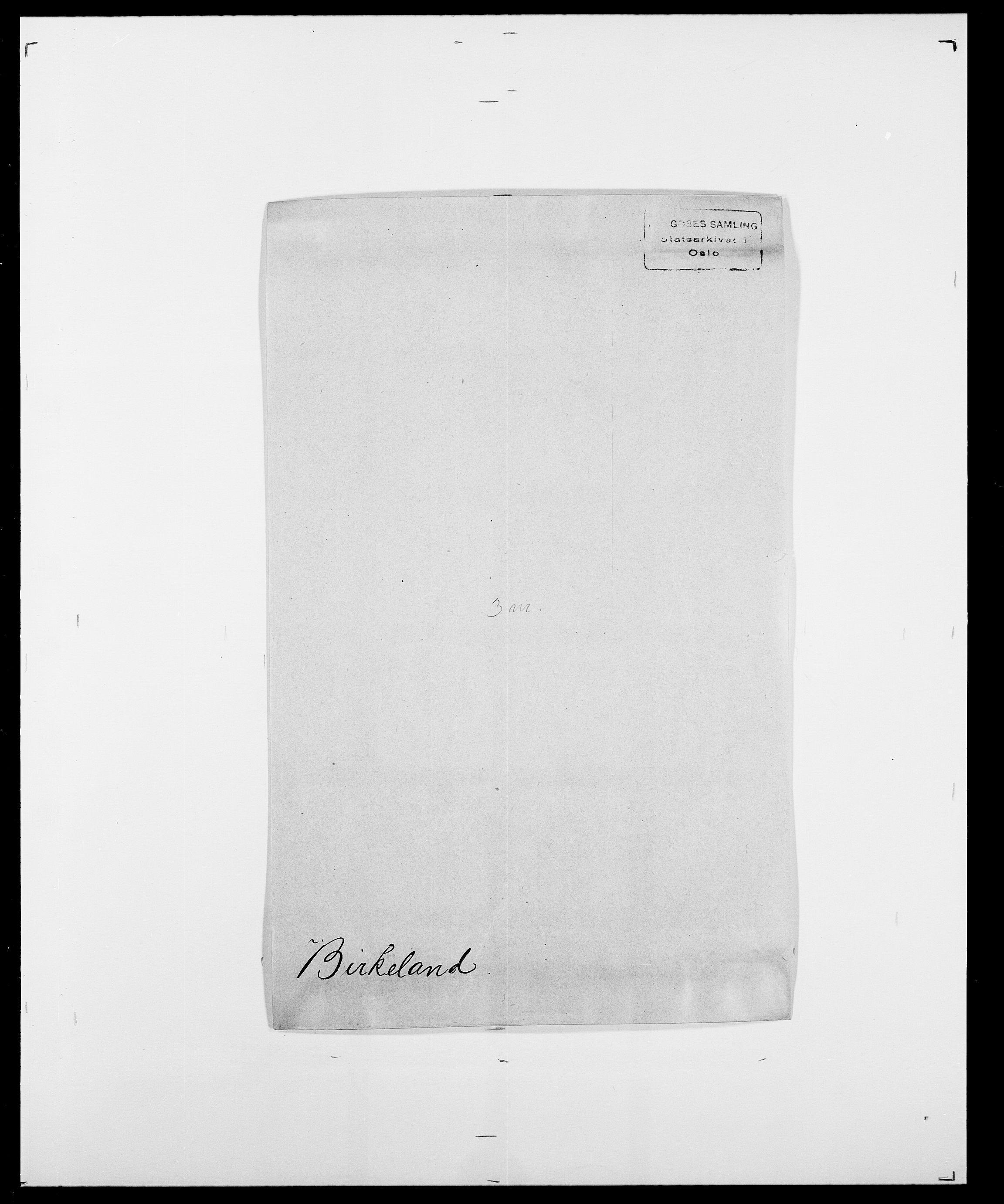 SAO, Delgobe, Charles Antoine - samling, D/Da/L0004: Bergendahl - Blære, s. 364
