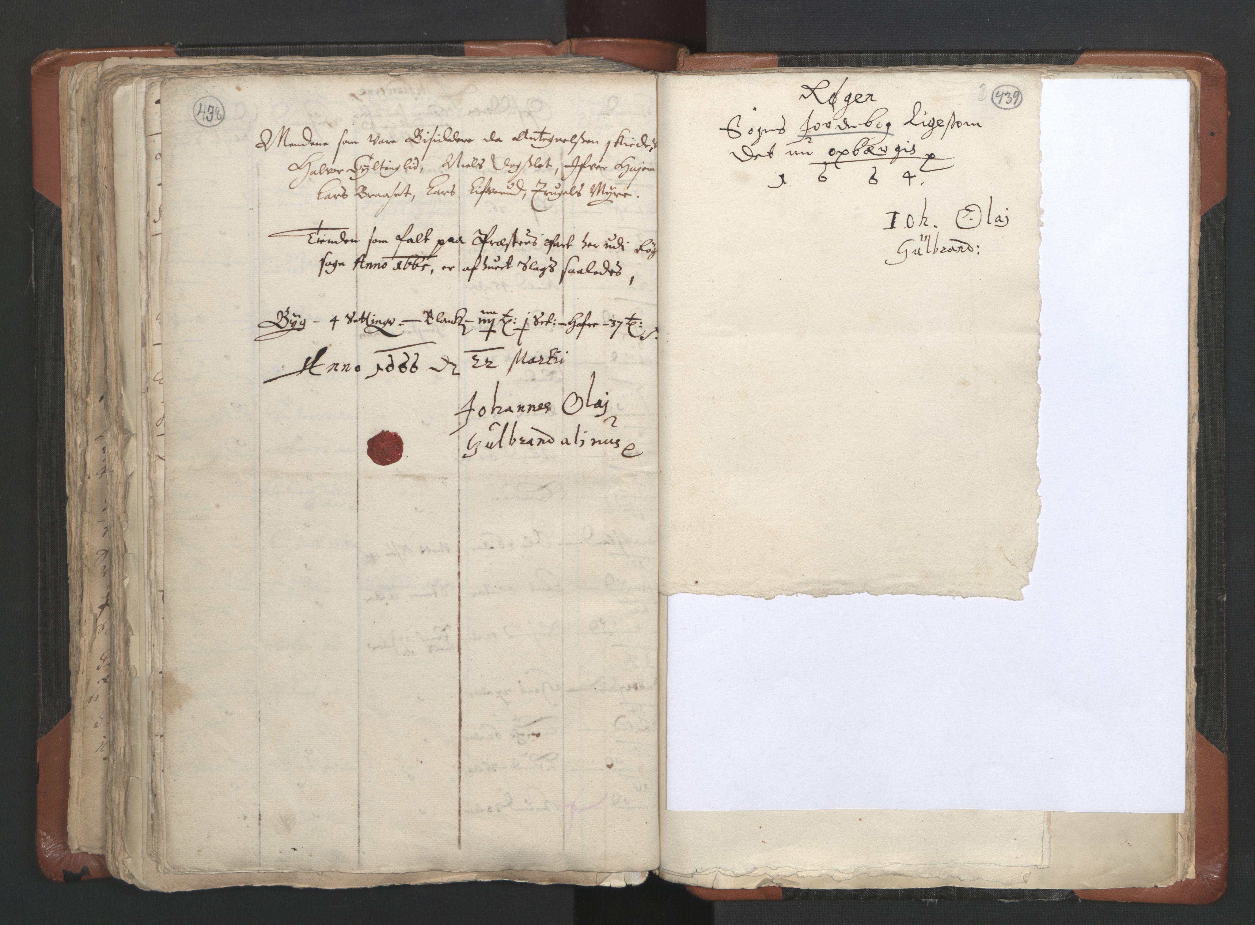 RA, Sogneprestenes manntall 1664-1666, nr. 9: Bragernes prosti, 1664-1666, s. 438-439