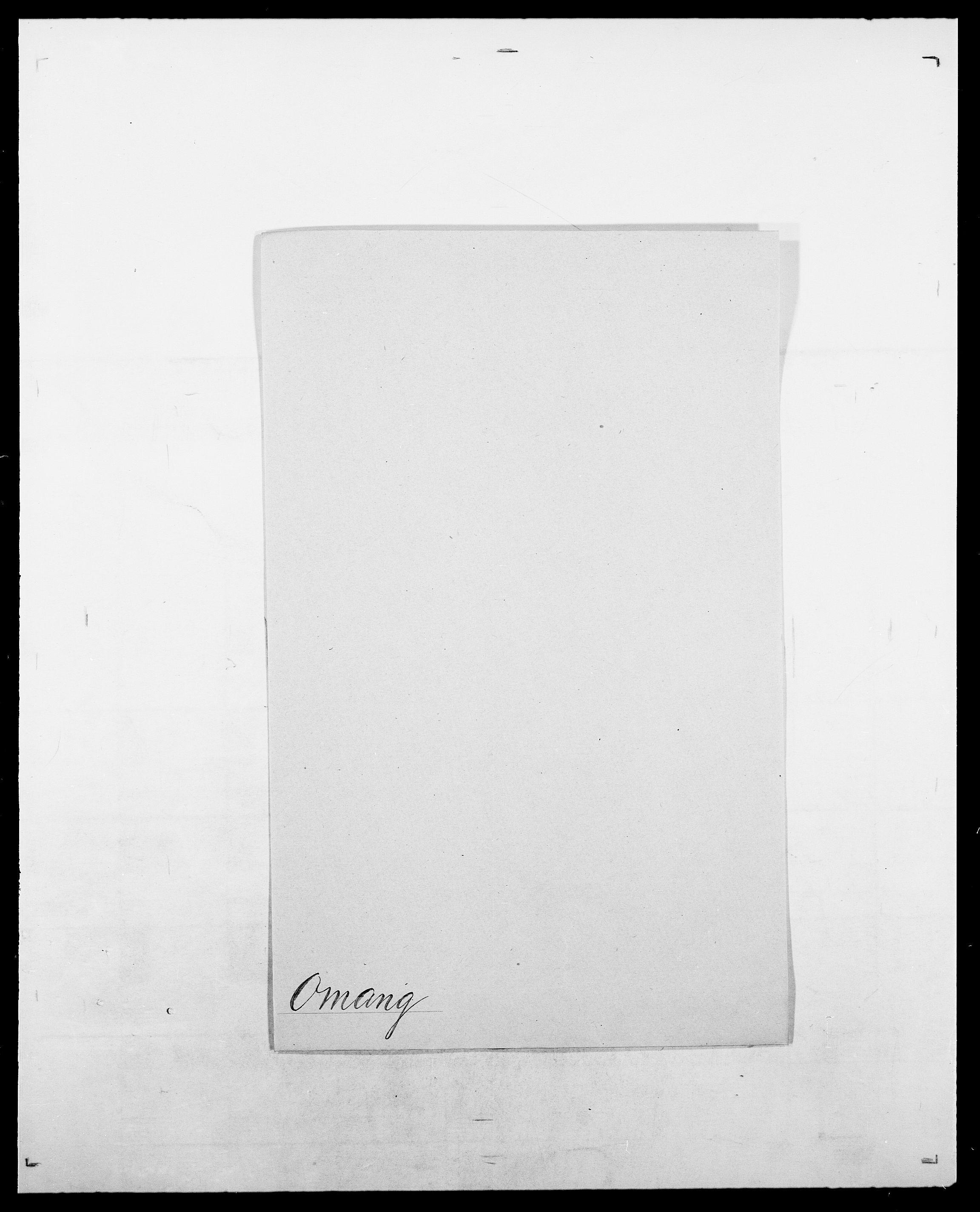 SAO, Delgobe, Charles Antoine - samling, D/Da/L0029: Obel - Oxholm, s. 265