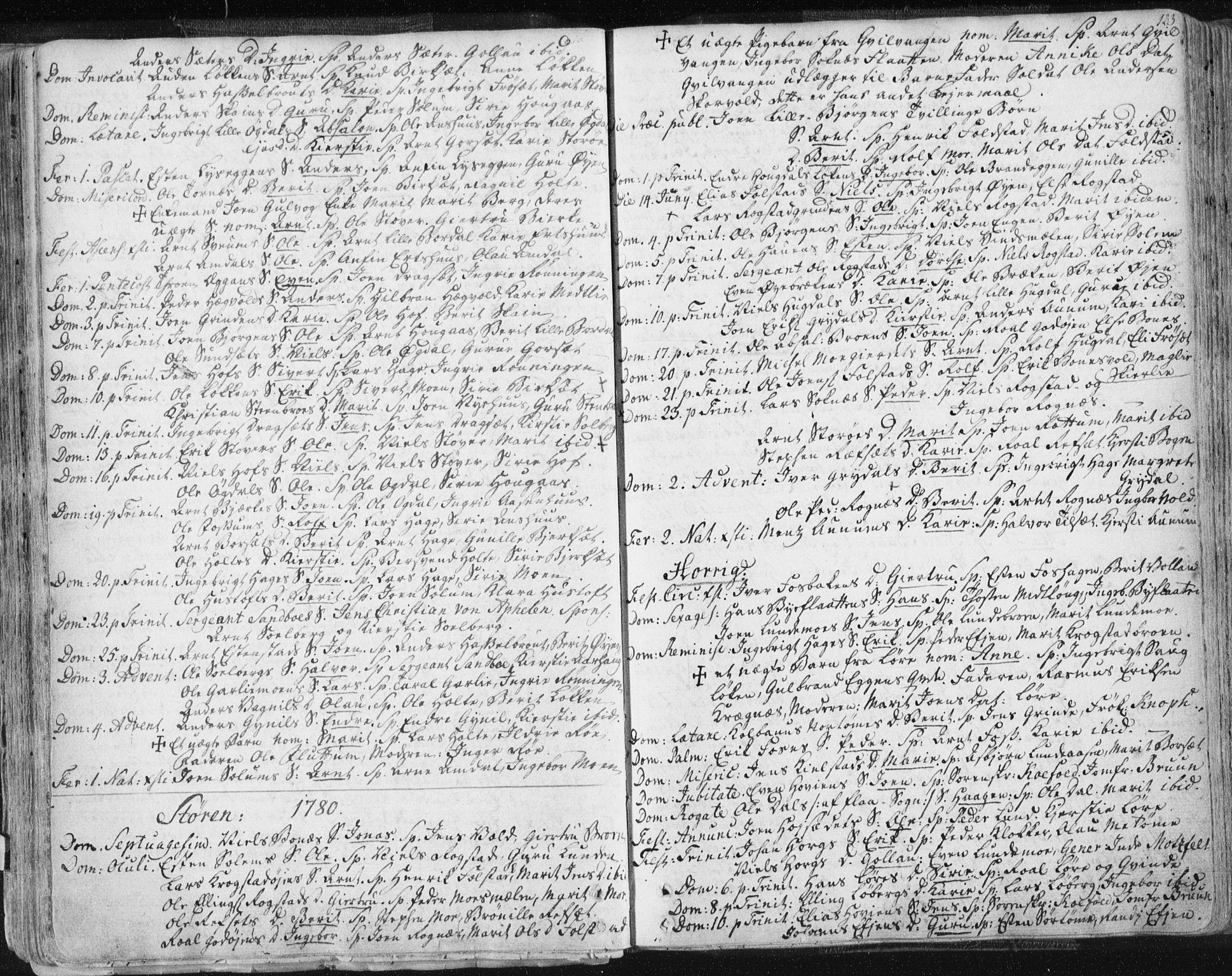 SAT, Ministerialprotokoller, klokkerbøker og fødselsregistre - Sør-Trøndelag, 687/L0991: Ministerialbok nr. 687A02, 1747-1790, s. 123