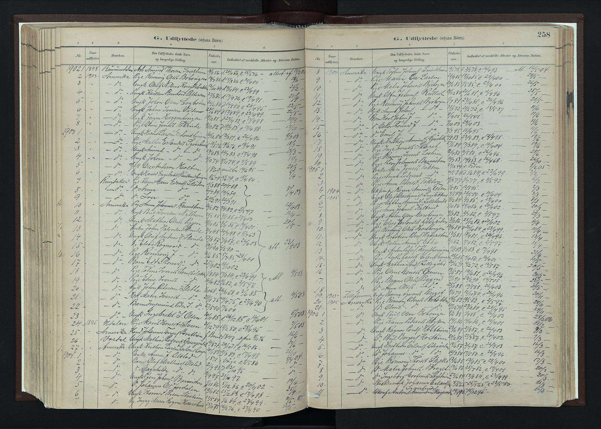 SAH, Nord-Fron prestekontor, Ministerialbok nr. 4, 1884-1914, s. 258