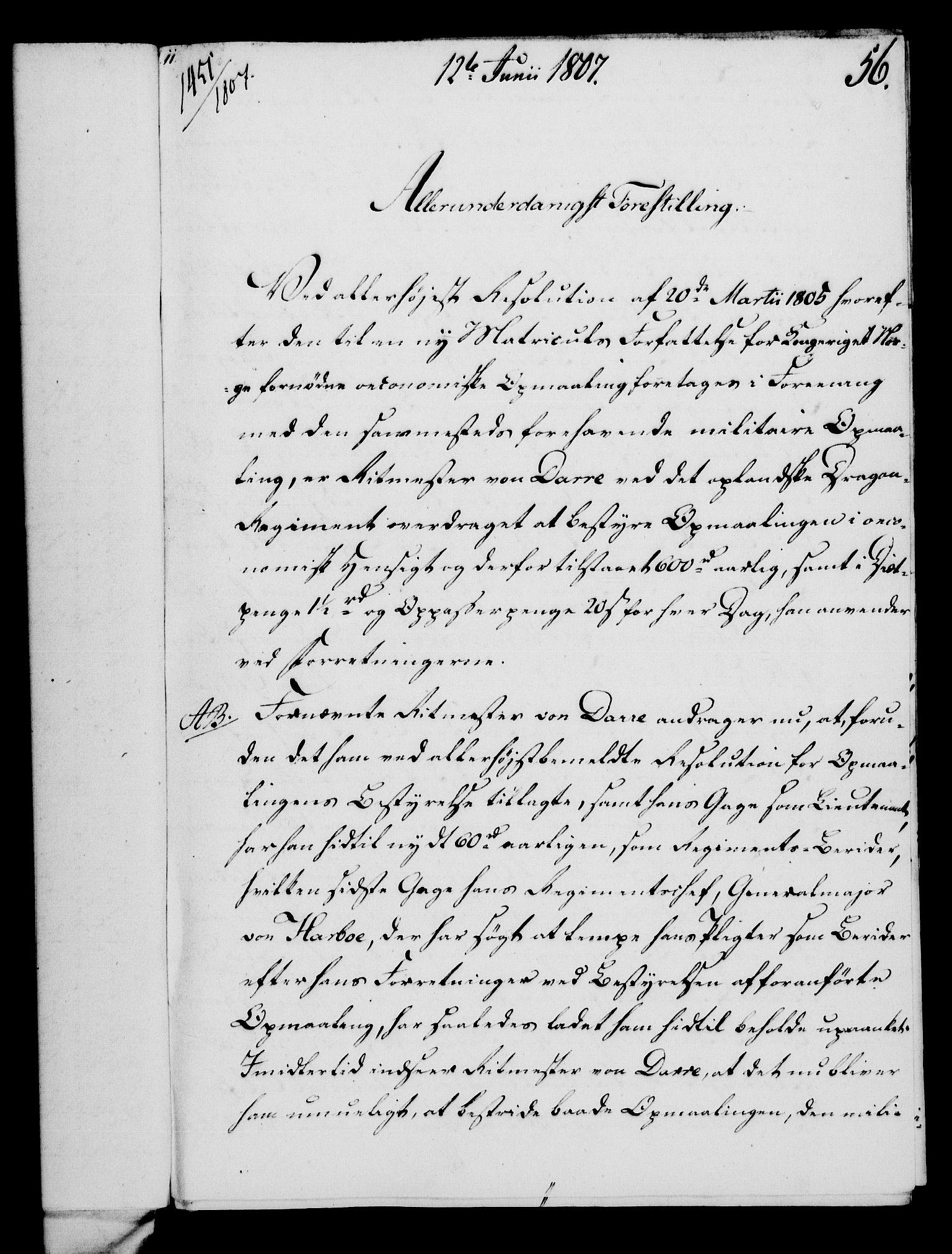 RA, Rentekammeret, Kammerkanselliet, G/Gf/Gfa/L0089: Norsk relasjons- og resolusjonsprotokoll (merket RK 52.89), 1807, s. 368