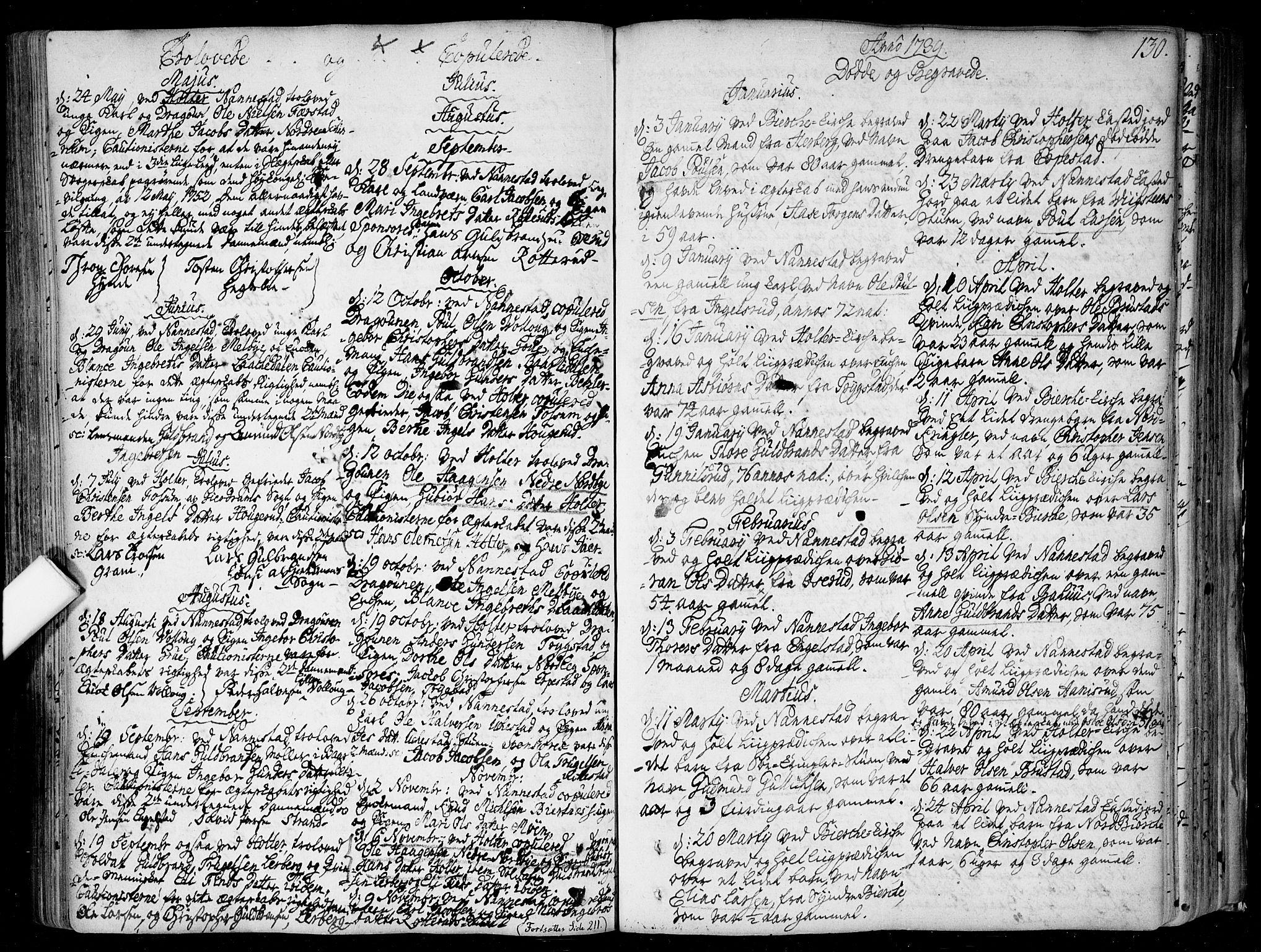SAO, Nannestad prestekontor Kirkebøker, F/Fa/L0006: Ministerialbok nr. I 6, 1739-1754, s. 130